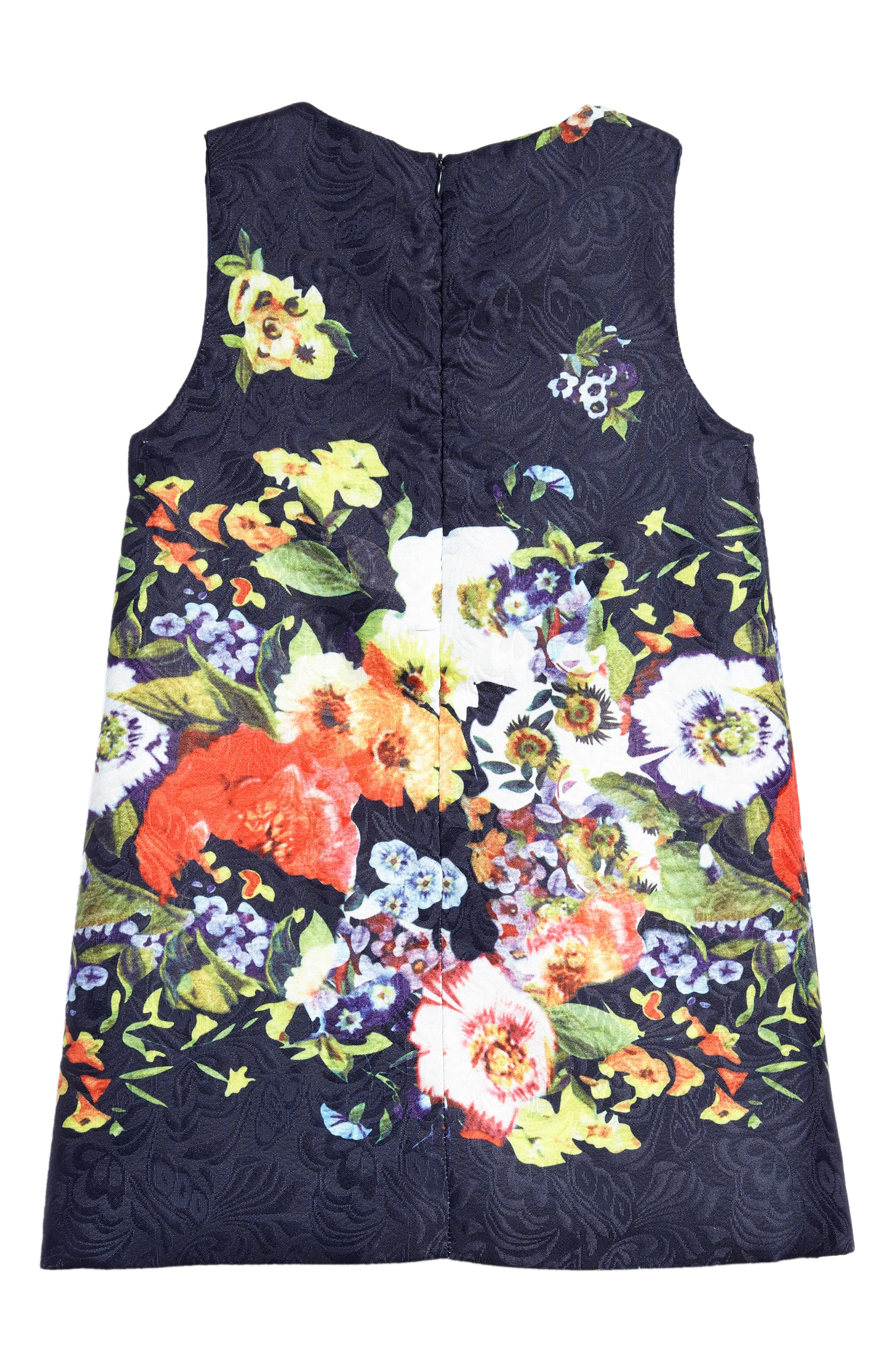 Floral Jacquard Dress,                             Alternate thumbnail 2, color,                             400