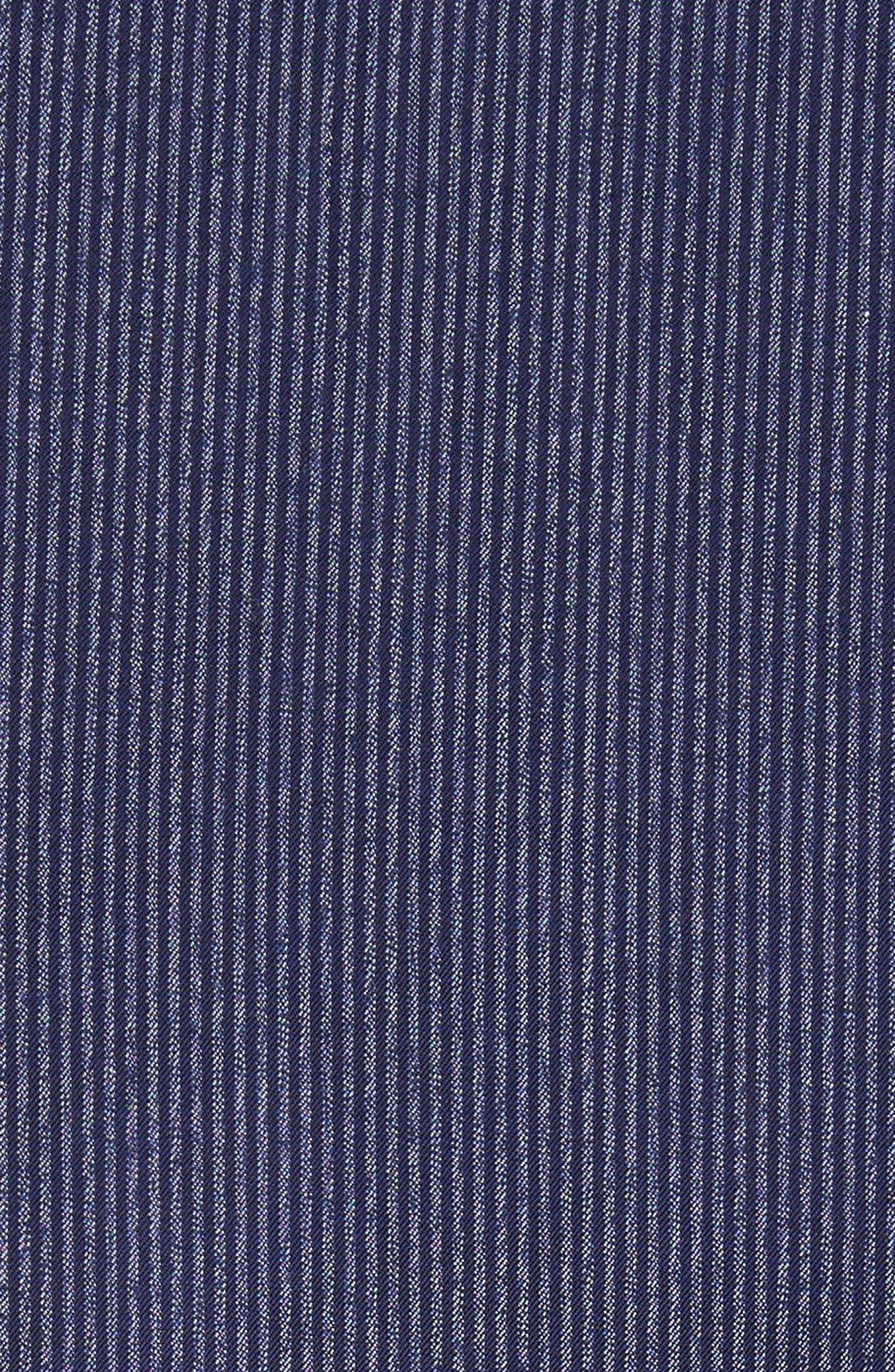 Regular Fit Pinstripe Sport Shirt,                             Alternate thumbnail 5, color,                             471
