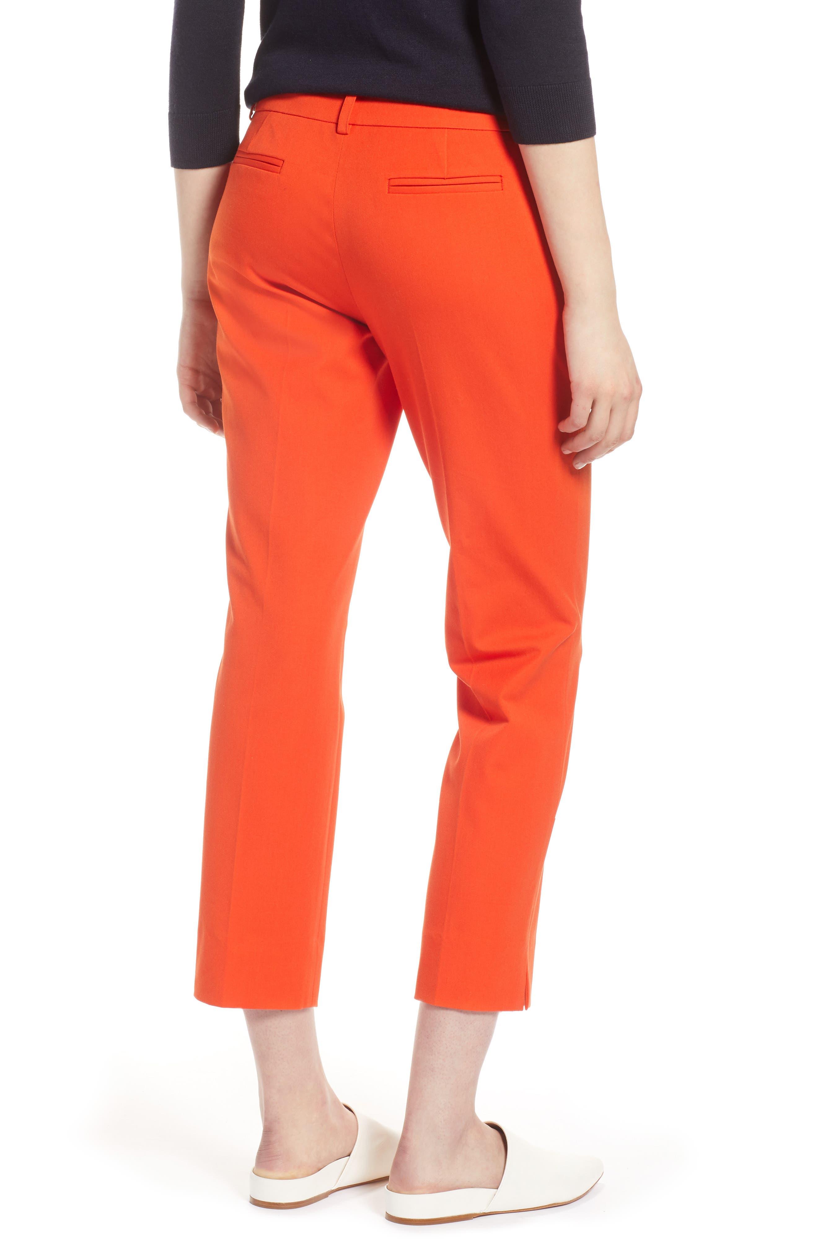 Crop Stretch Cotton Pants,                             Alternate thumbnail 26, color,