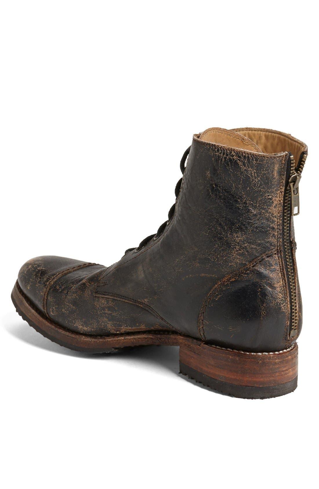 'Protégé' Cap Toe Boot,                             Alternate thumbnail 4, color,                             001