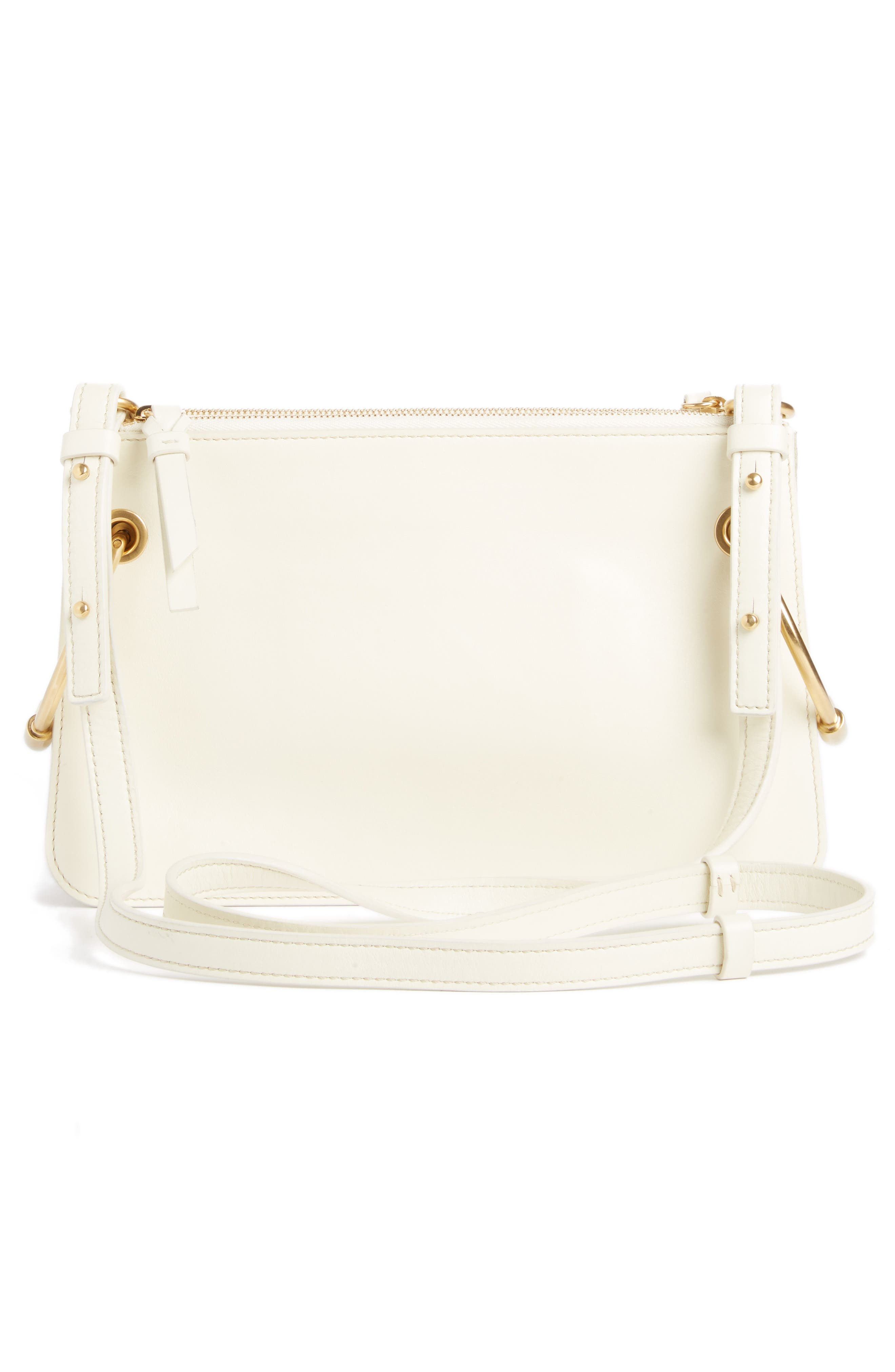 Small Roy Leather Crossbody Bag,                             Alternate thumbnail 3, color,                             NATURAL WHITE