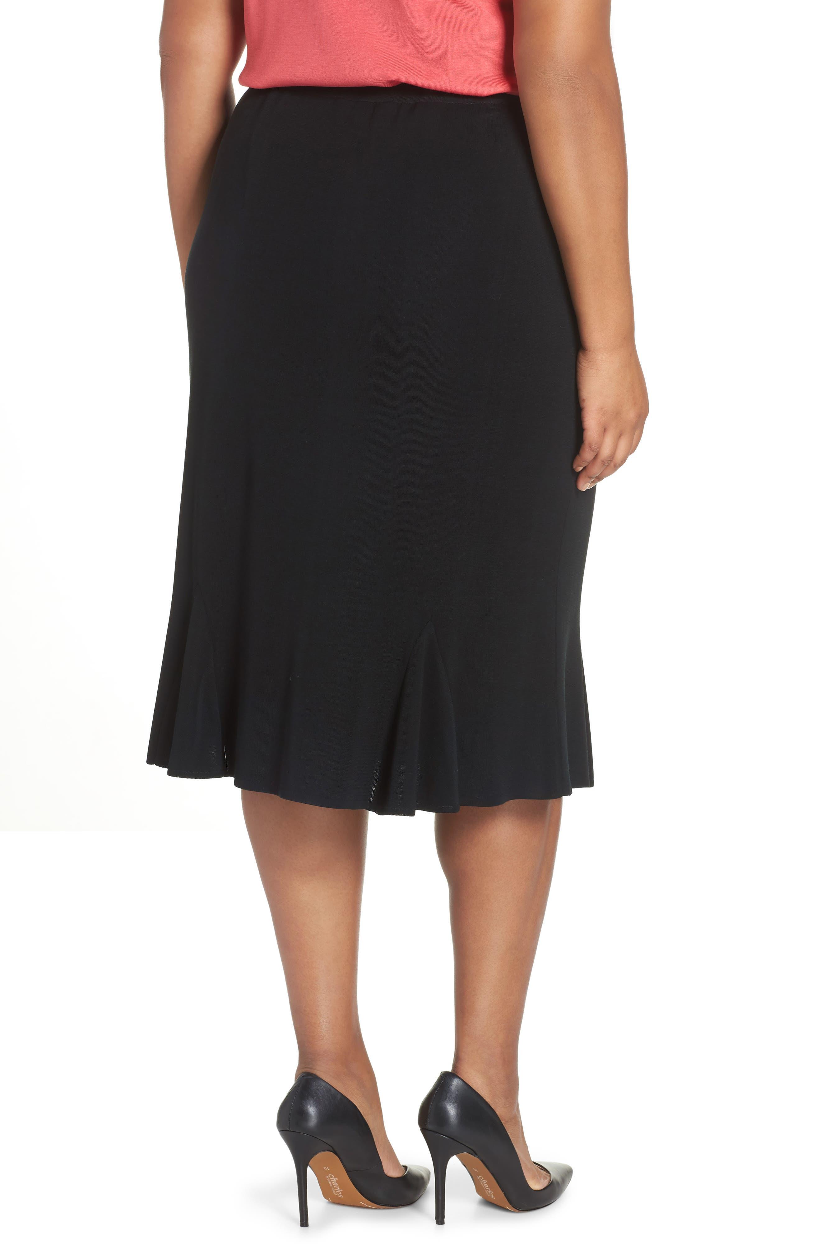 Gore Flare Skirt,                             Alternate thumbnail 2, color,                             BLACK