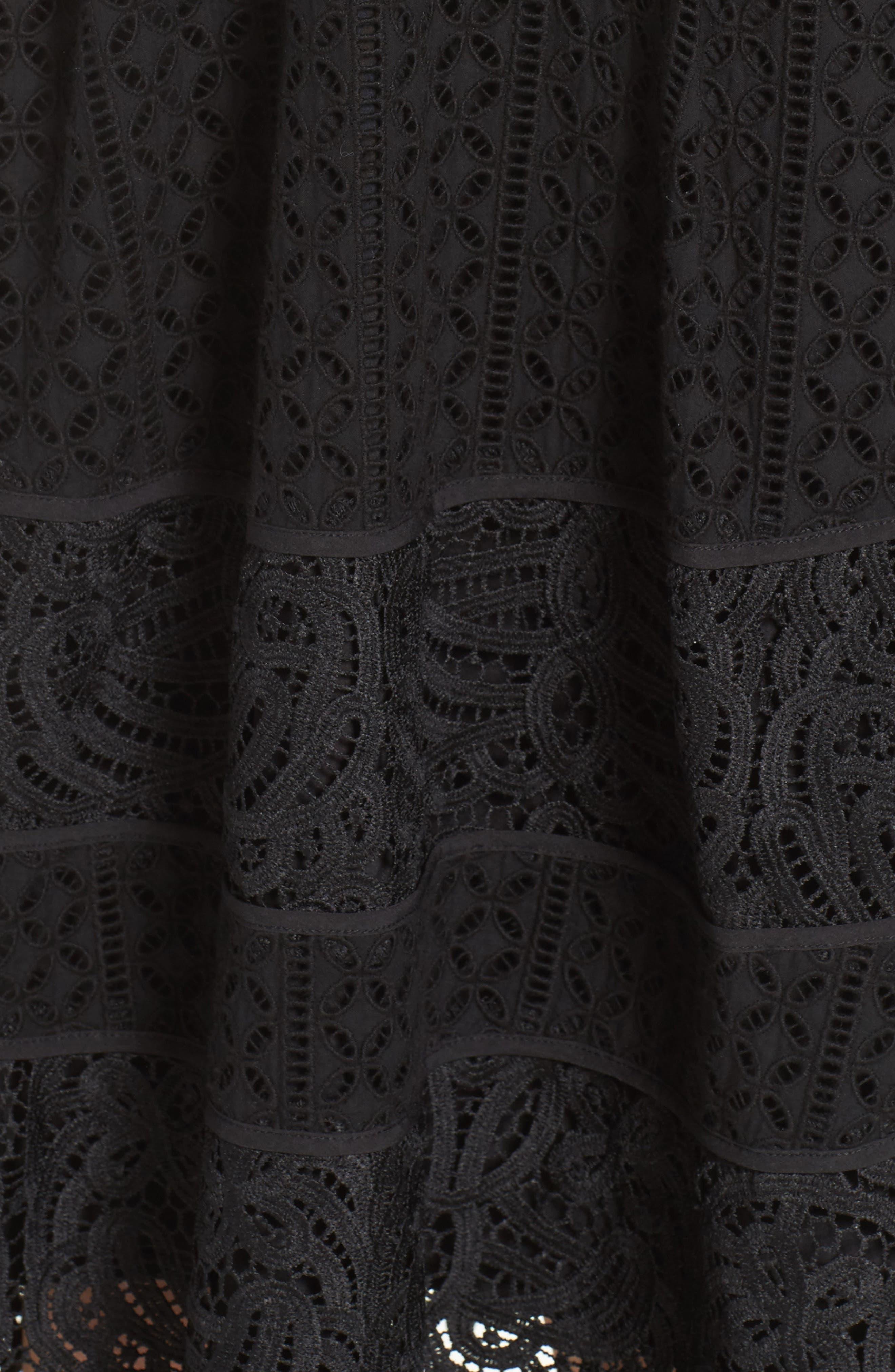 Fit & Flare Midi Dress,                             Alternate thumbnail 18, color,