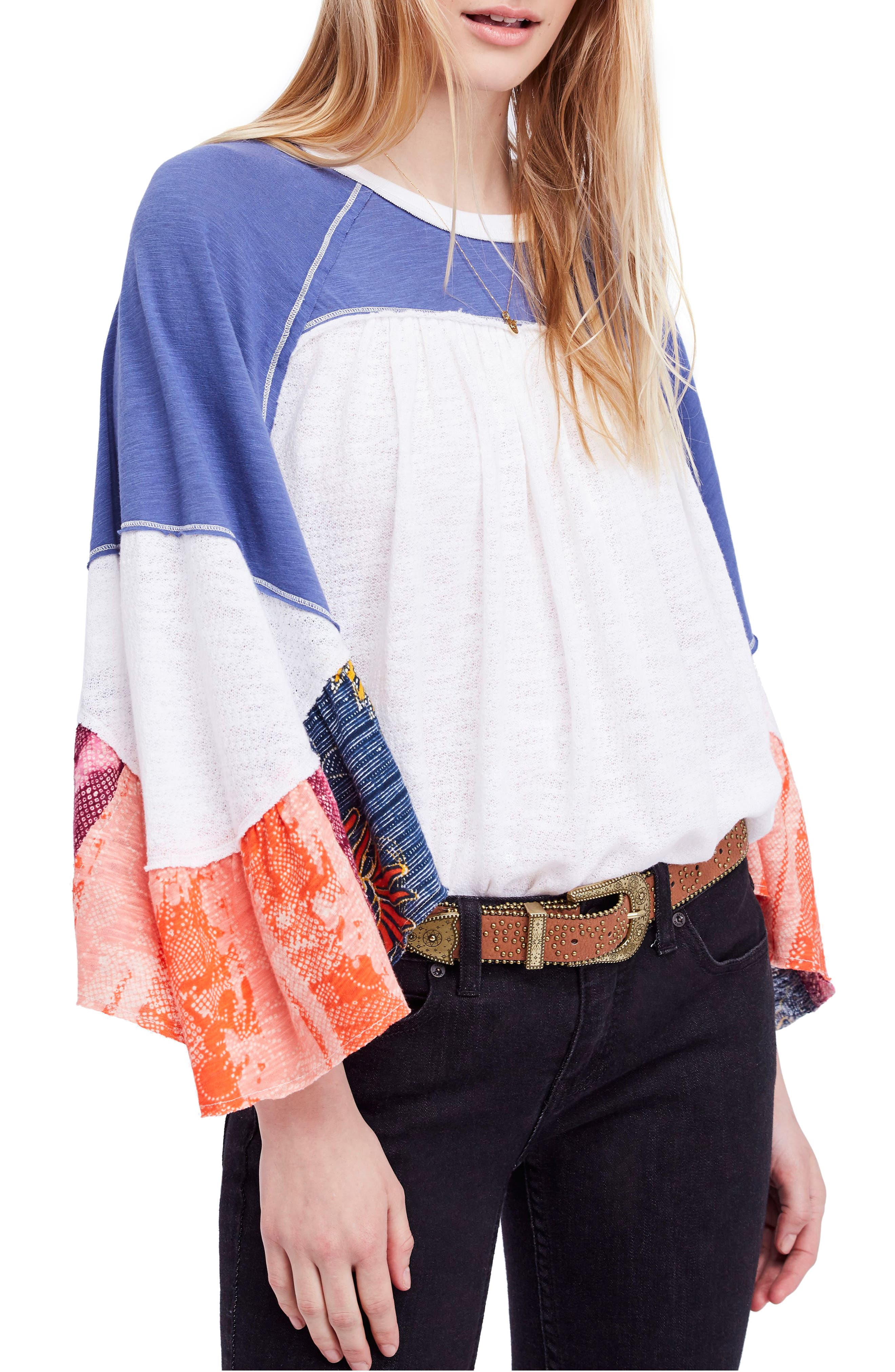We The Free By Free People Friday Fever Pattern Mix Top
