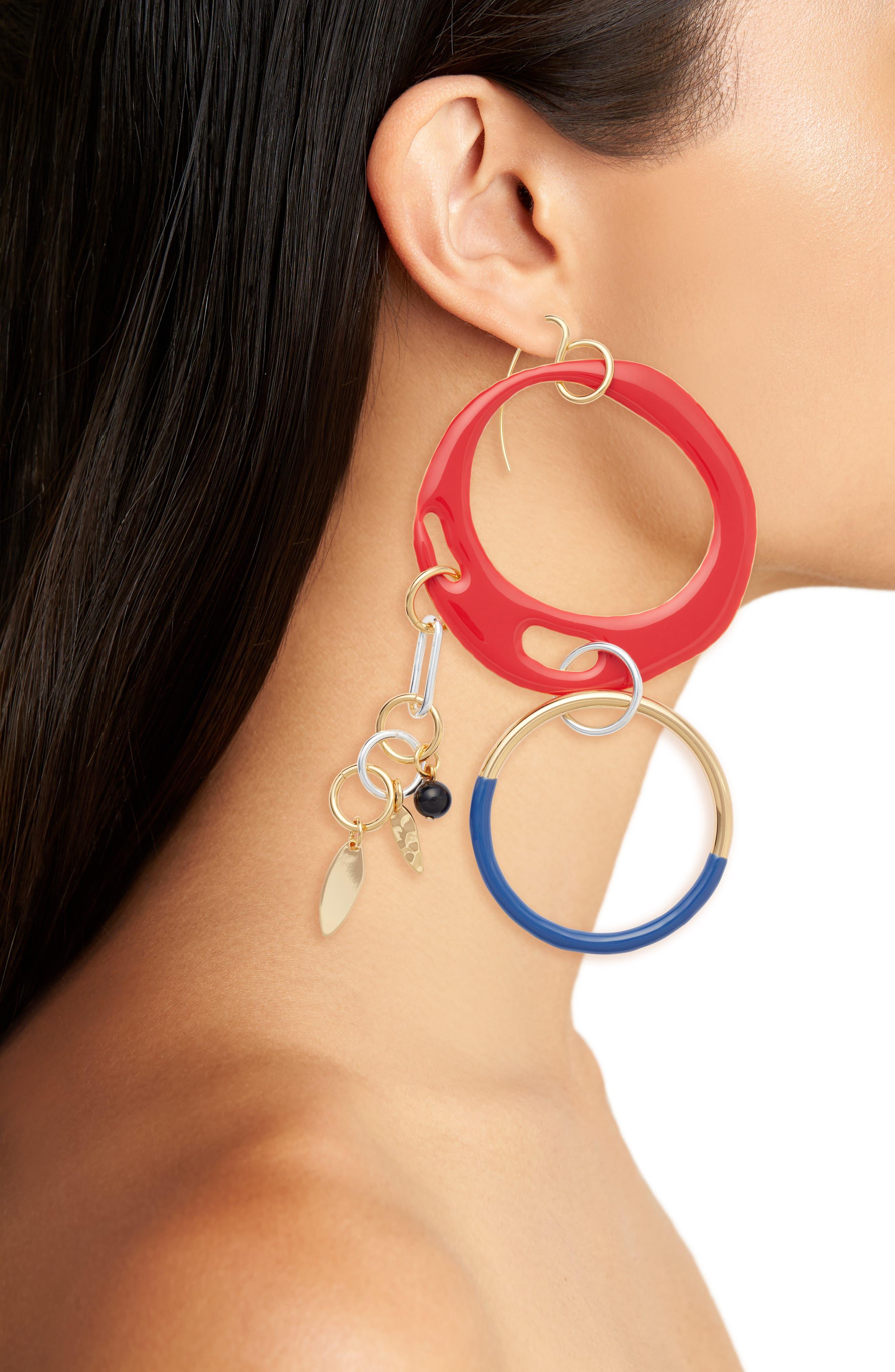 Asymmetrical Charm Earrings,                             Alternate thumbnail 2, color,                             600