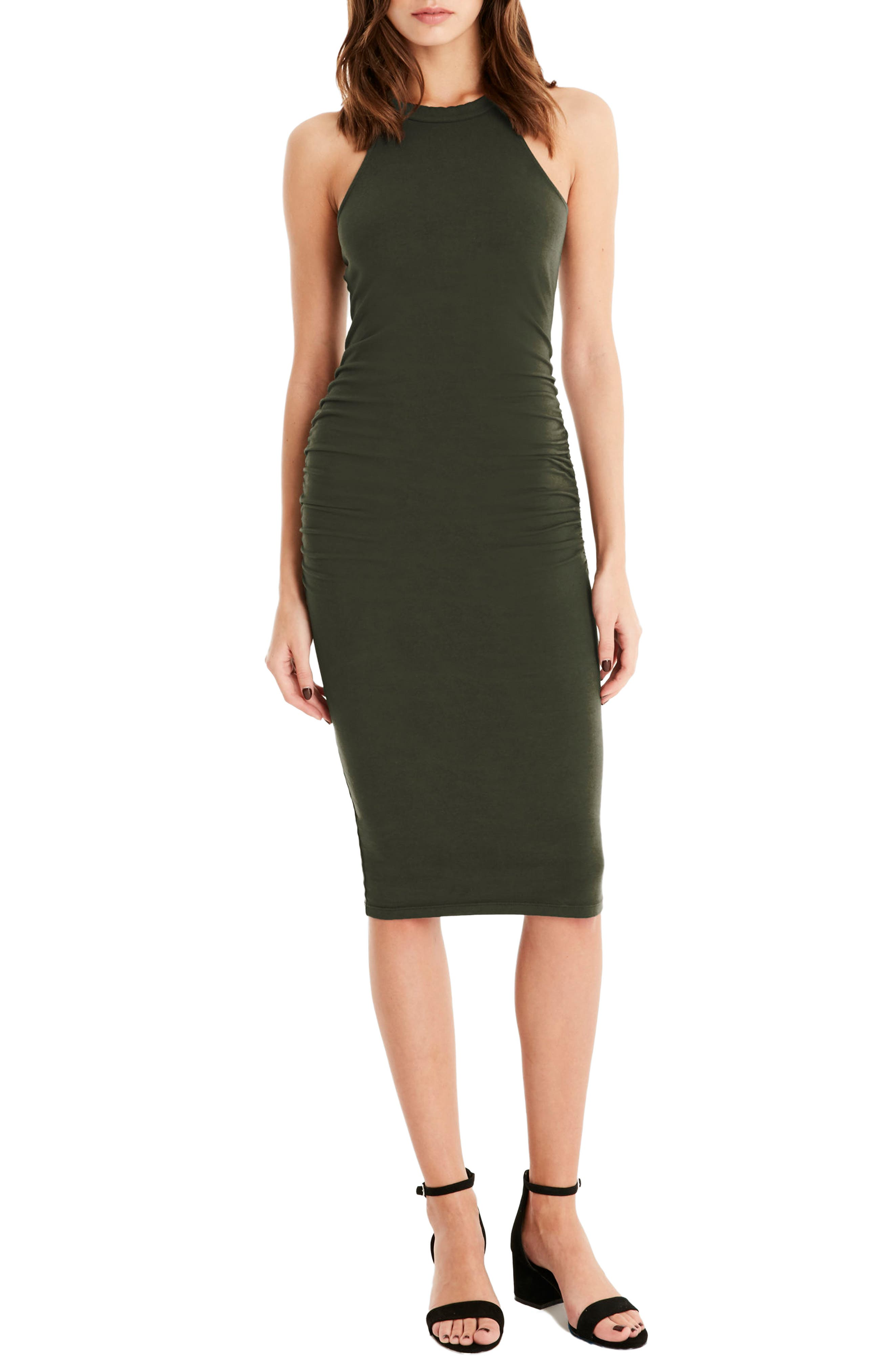 Halter Midi Dress,                             Main thumbnail 3, color,