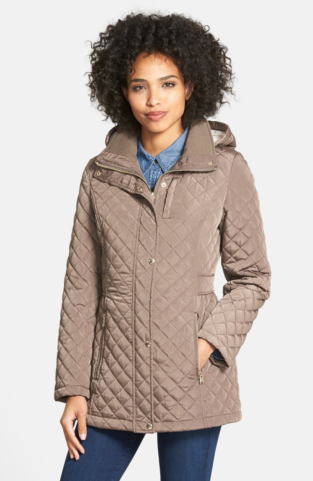 Hooded Quilted Jacket,                             Main thumbnail 4, color,