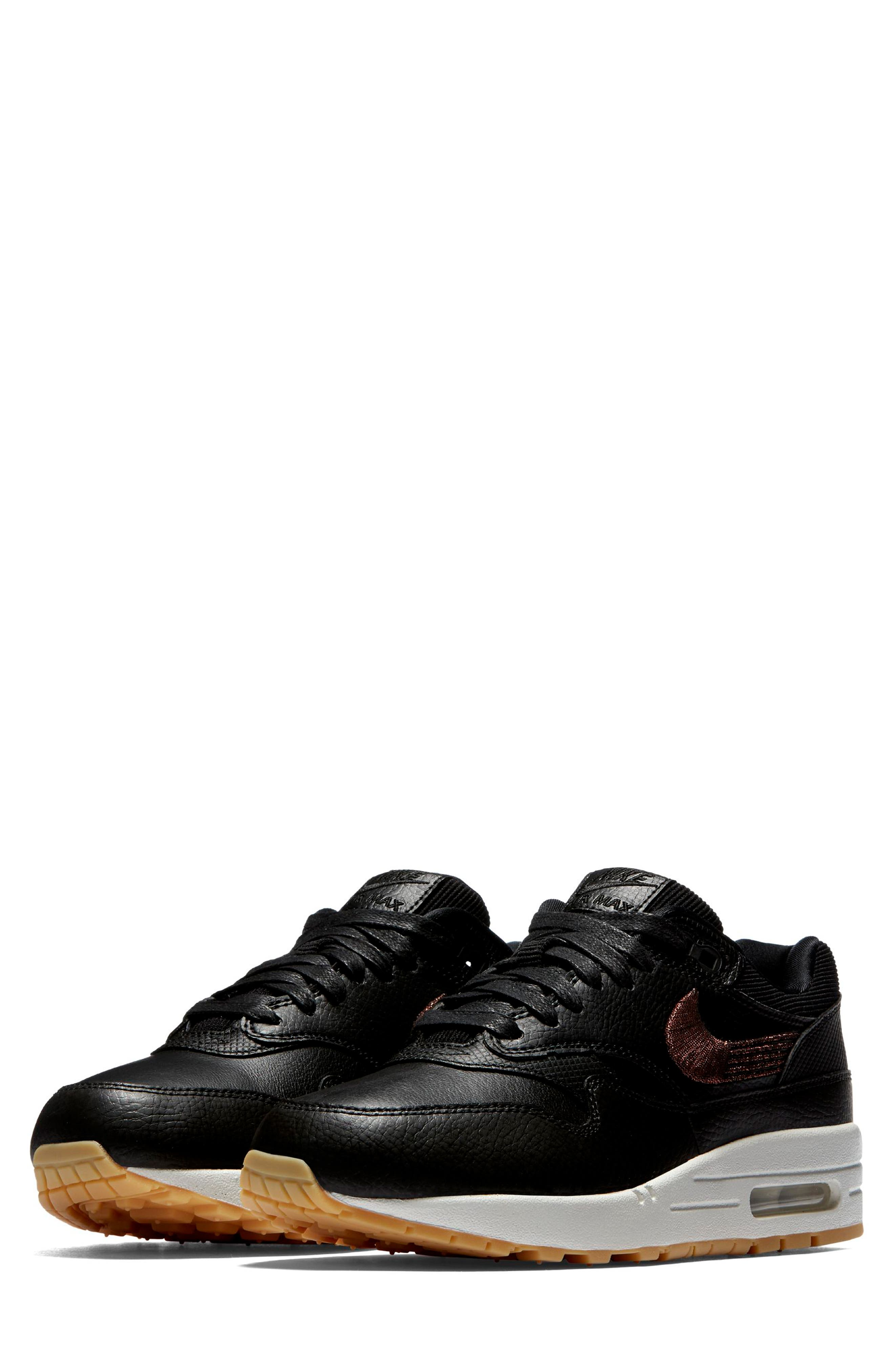 Air Max 1 Premium Sneaker,                             Main thumbnail 1, color,                             GREY
