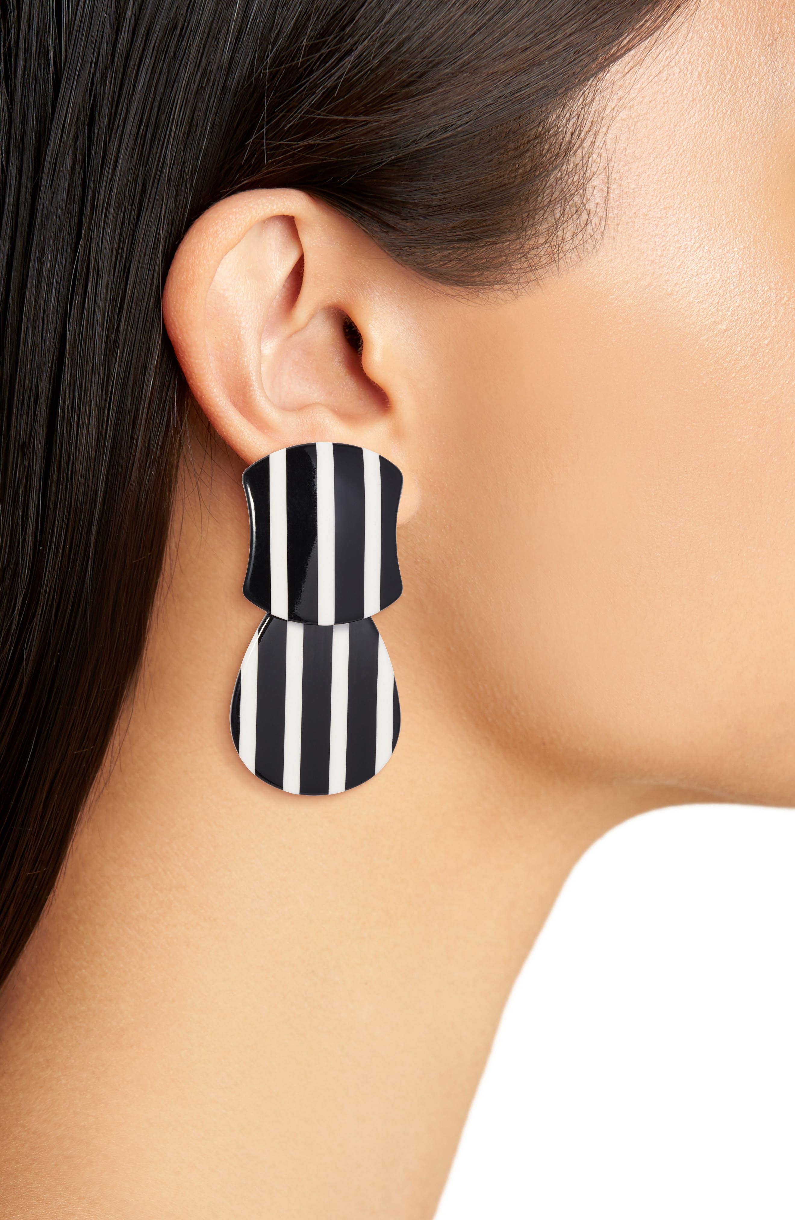 Swivel Drop Earrings,                             Alternate thumbnail 2, color,                             001