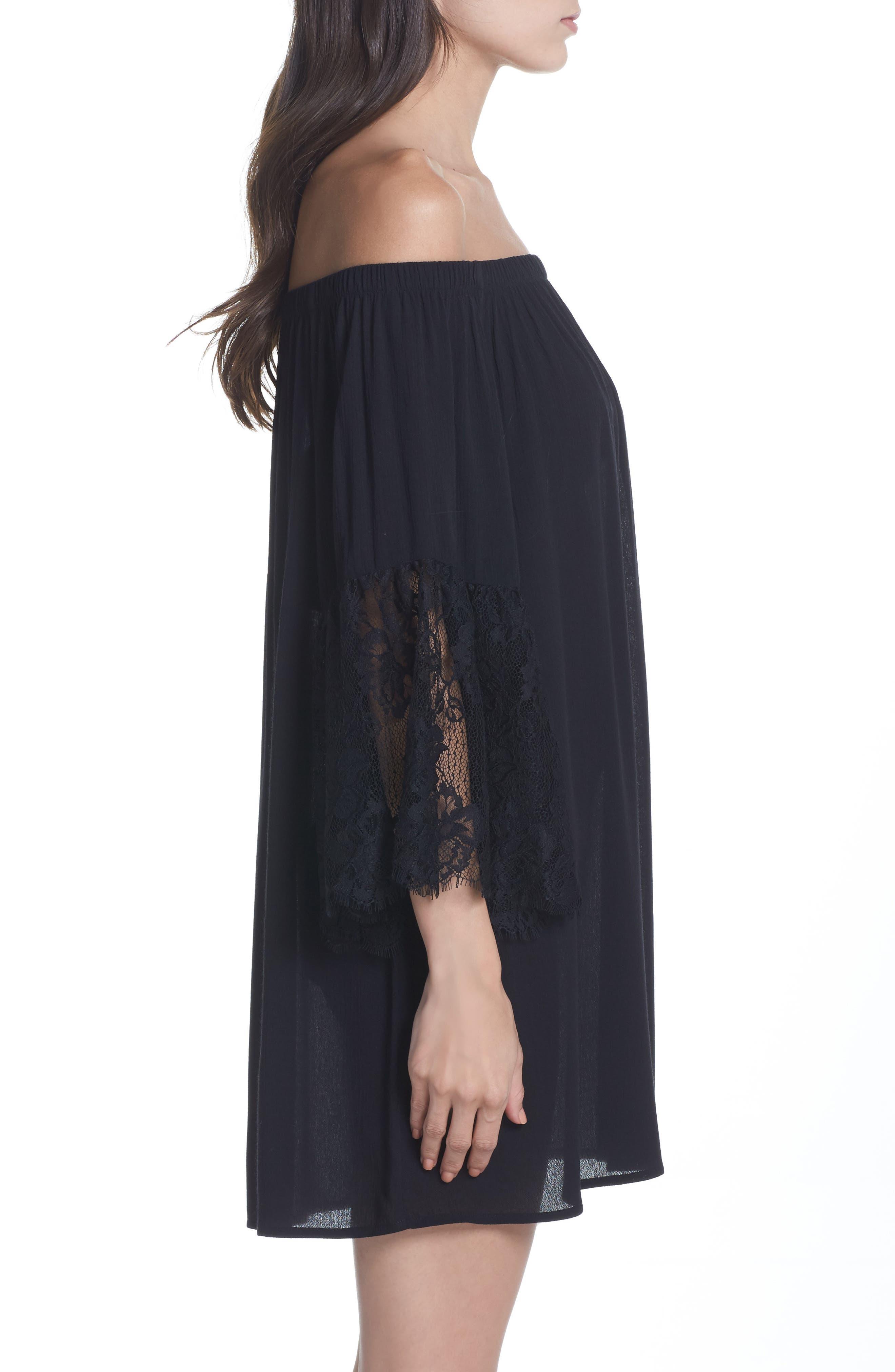 Off the Shoulder Cover-Up Dress,                             Alternate thumbnail 7, color,