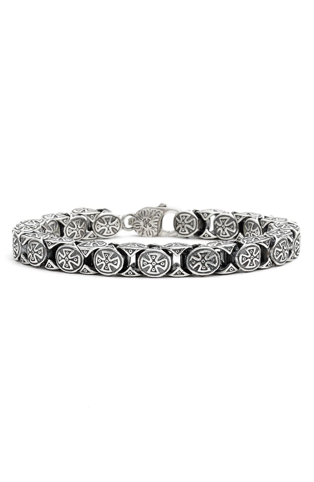 'Minos' Large Cross Bracelet,                             Main thumbnail 1, color,                             040
