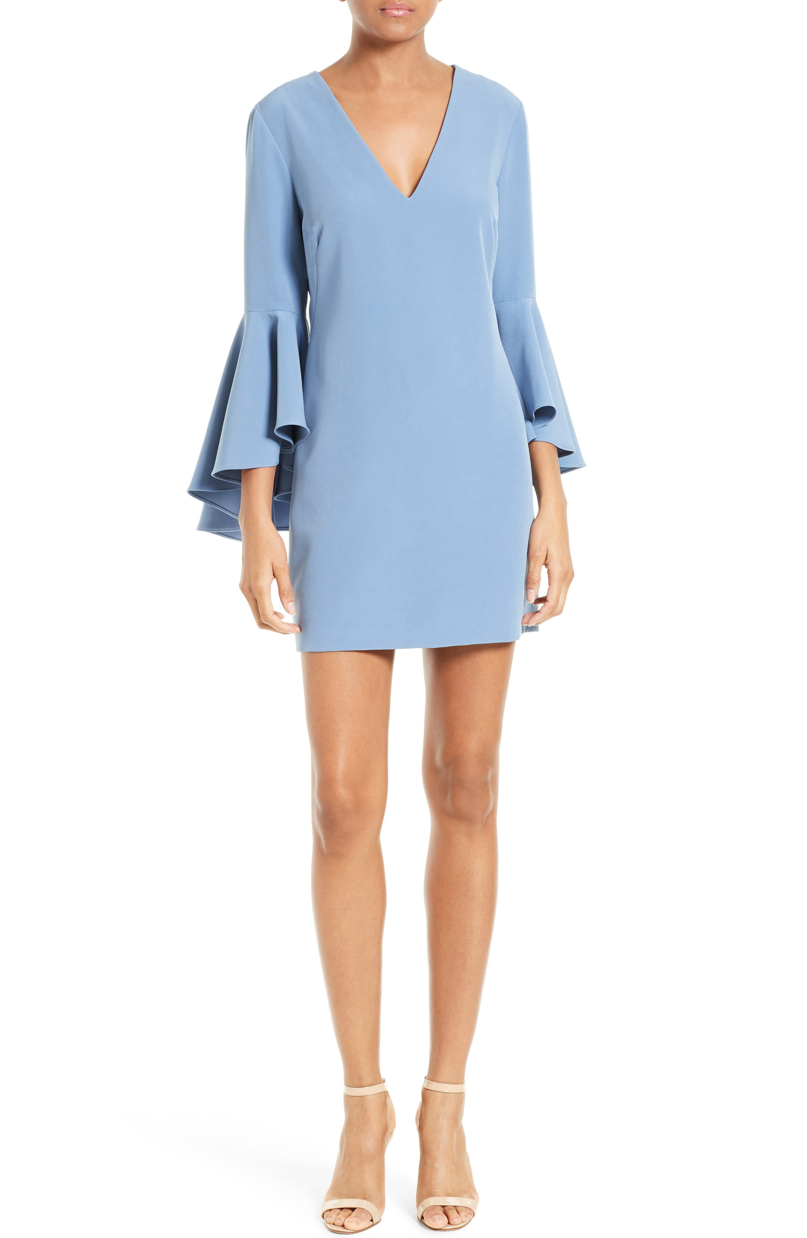 Nicole Bell Sleeve Dress,                             Main thumbnail 8, color,