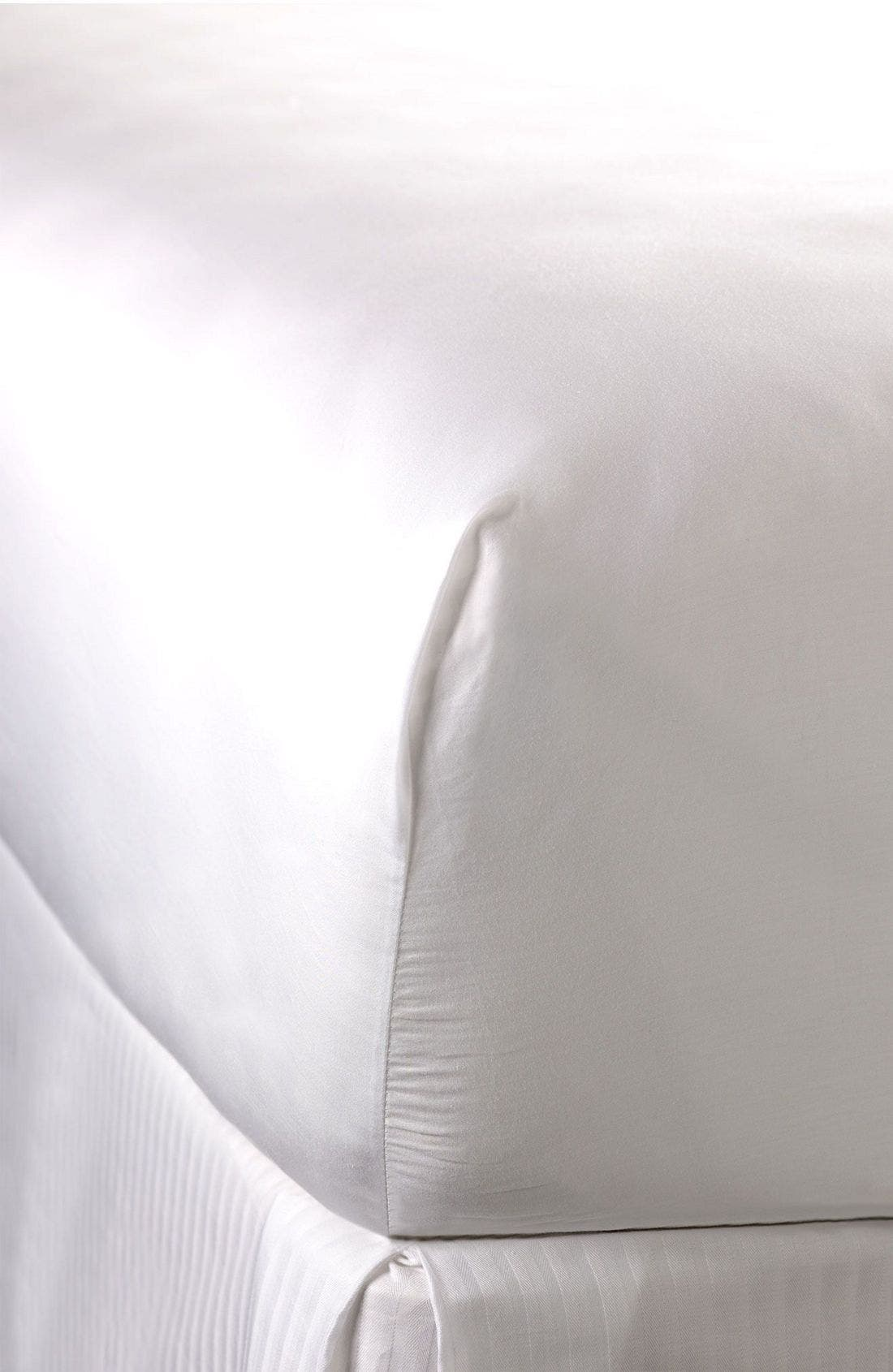 300 Thread Count Luxe Fitted Sheet,                             Main thumbnail 1, color,                             WHI