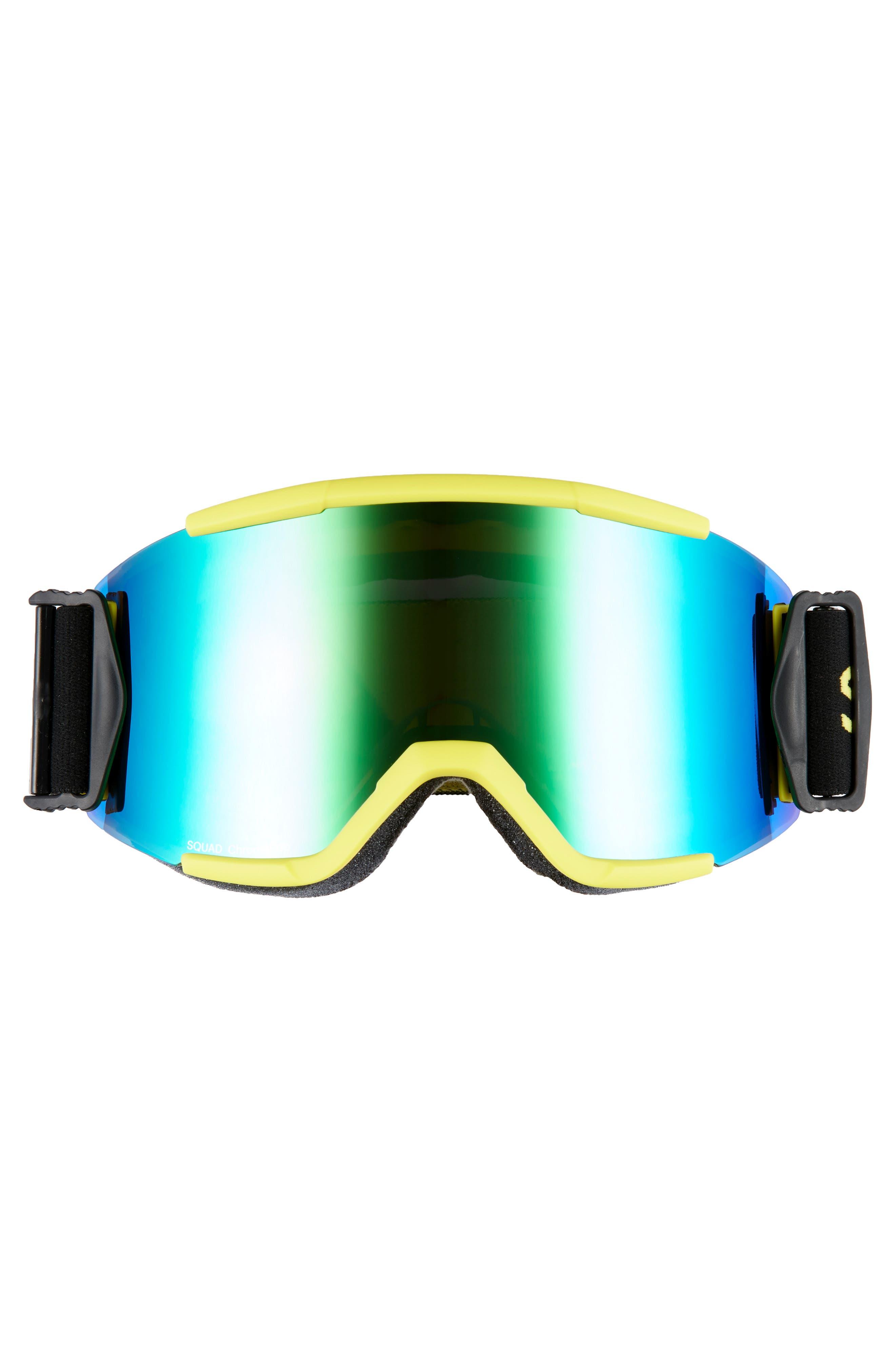 Squad Chromapop 180mm Snow Goggles,                             Alternate thumbnail 3, color,                             CITRON GLOW
