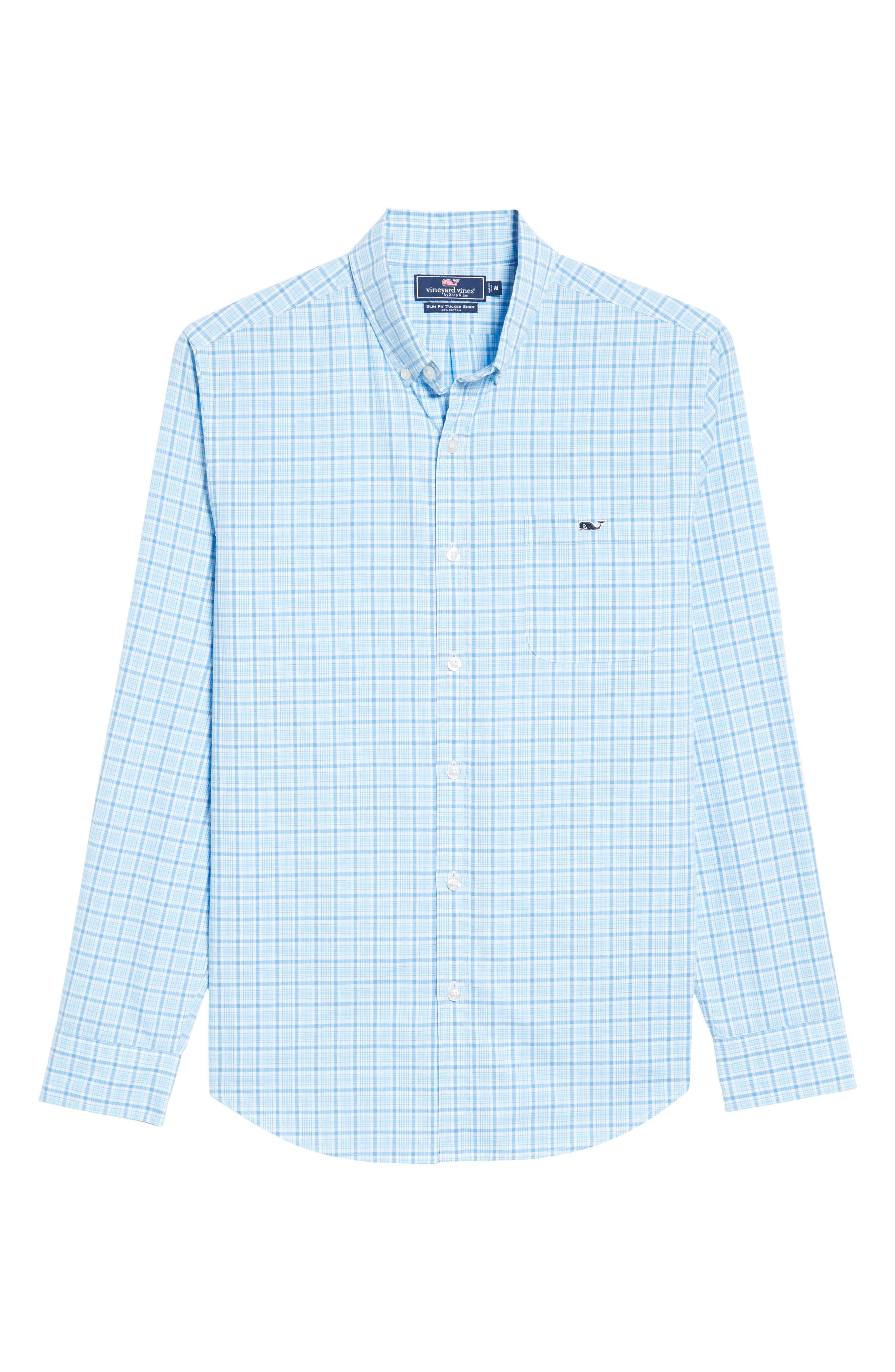 Seawatch Slim Fit Plaid Sport Shirt,                             Alternate thumbnail 6, color,                             459