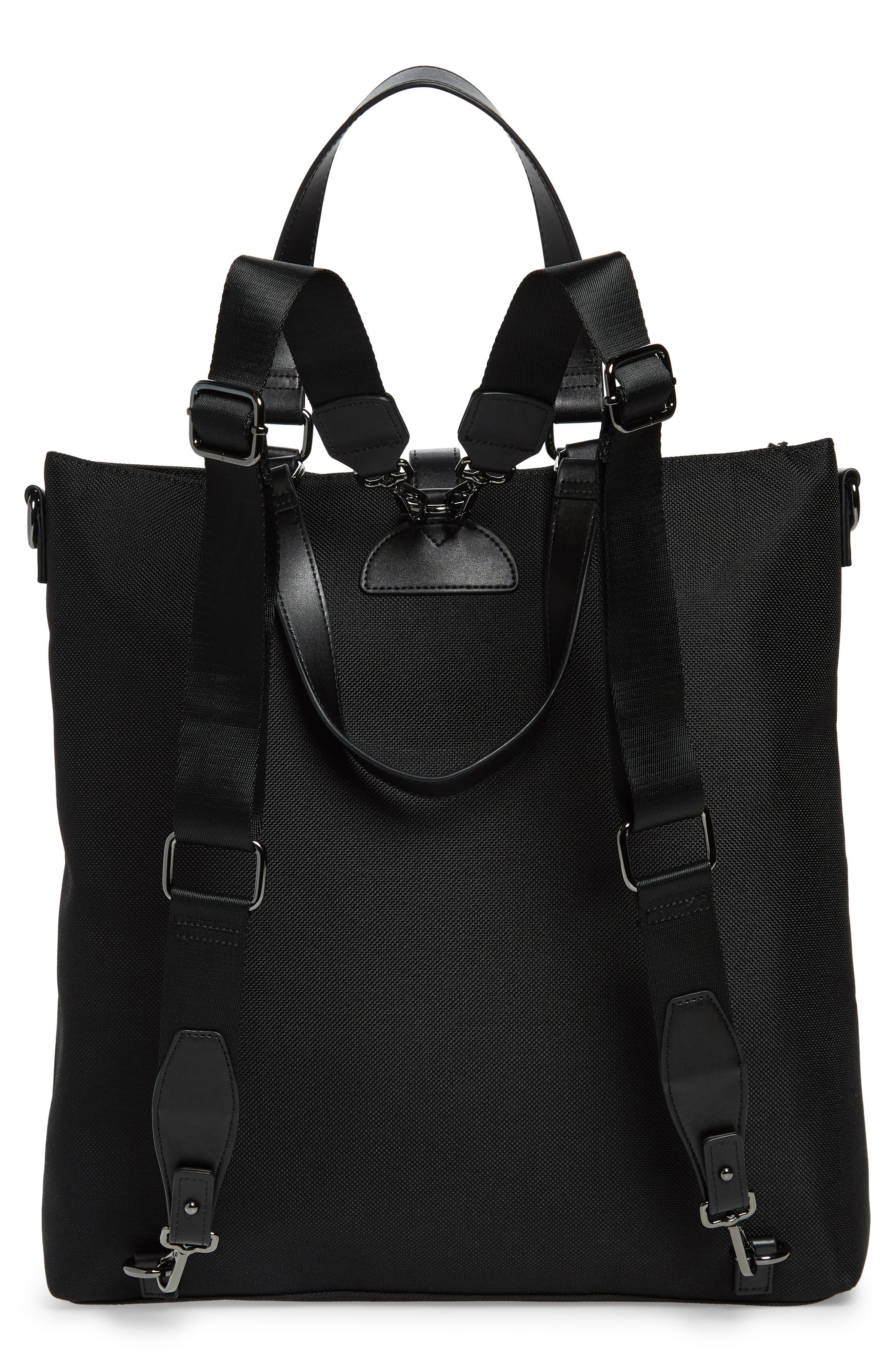 Tidee Convertible Backpack,                             Alternate thumbnail 3, color,                             BLACK