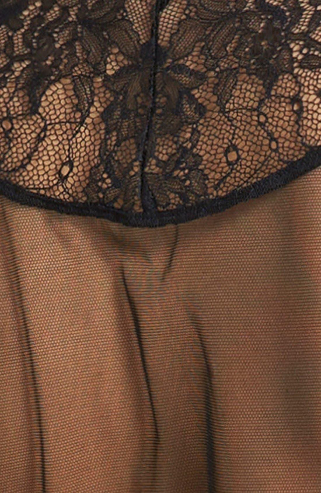 AGENT PROVOCATEUR,                             L'Agent by Agent Provocateur 'Idalia' Short Robe,                             Alternate thumbnail 3, color,                             001
