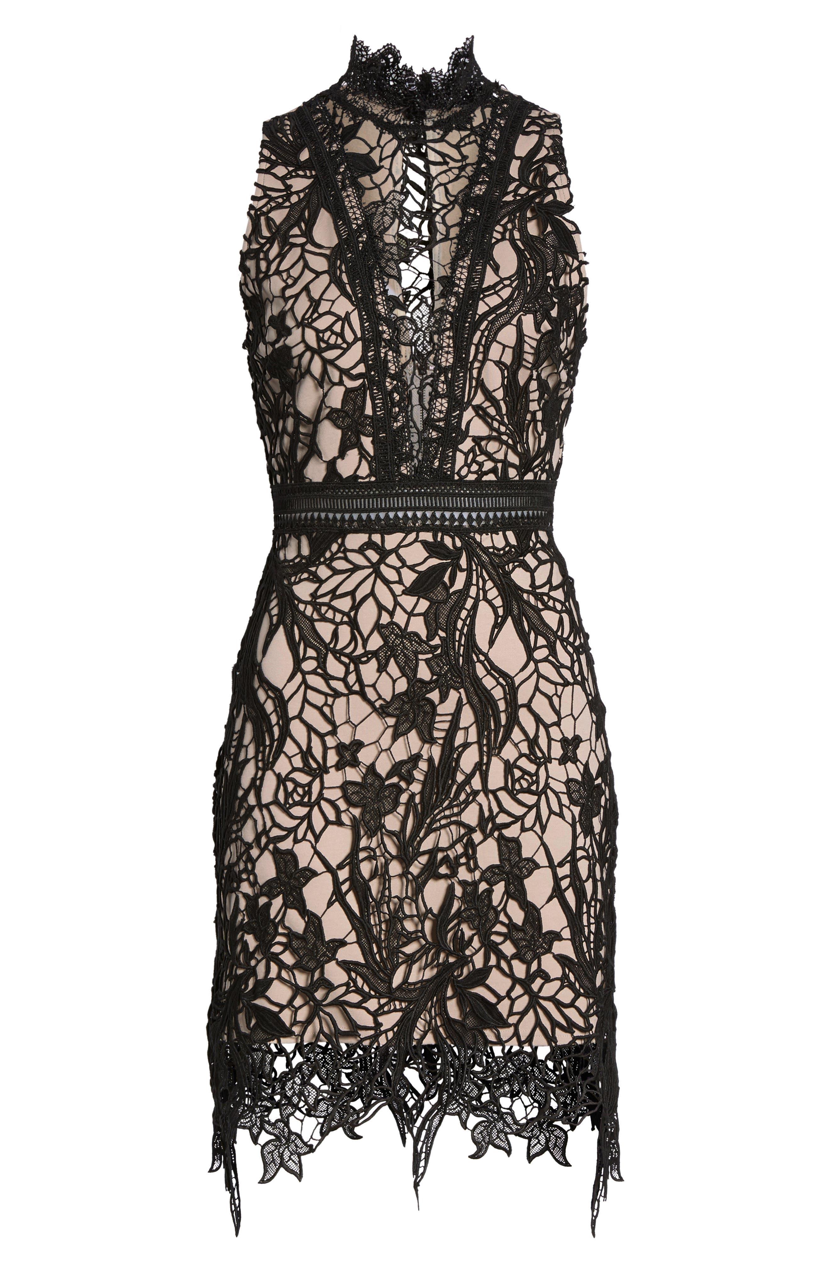 Felicity Sheath Dress,                             Alternate thumbnail 7, color,                             001