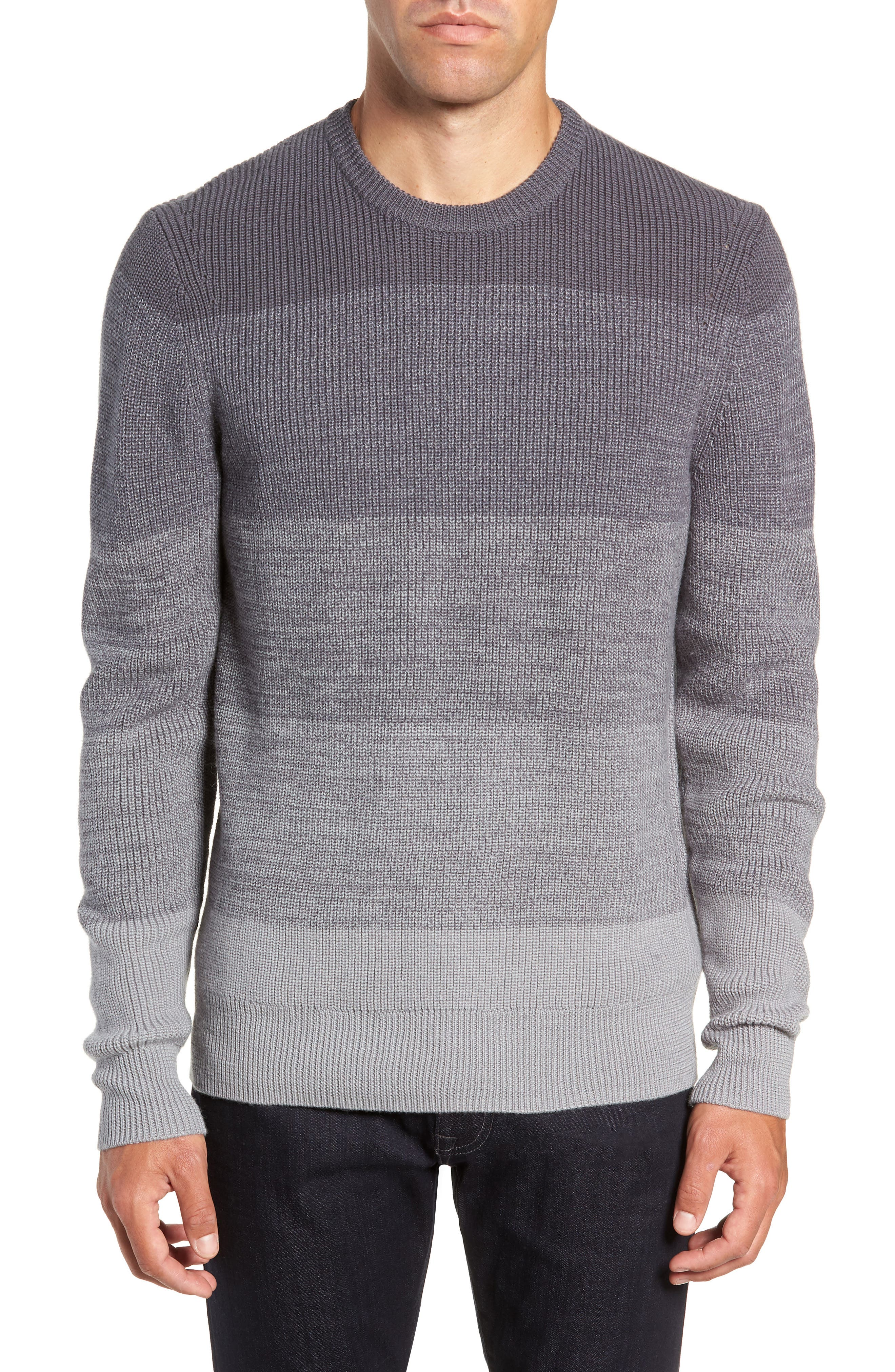 ZACHARY PRELL Fullterton Wool Blend Sweater in Grey