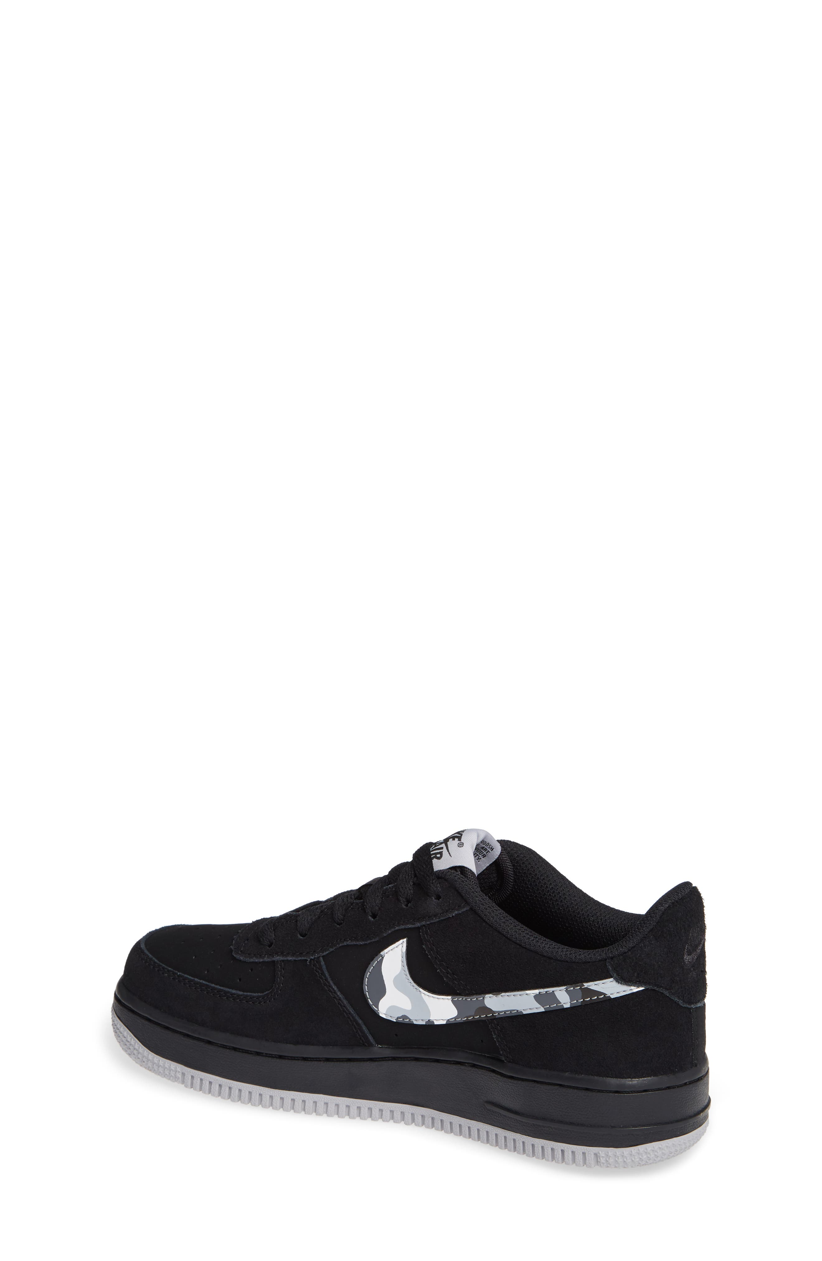 Air Force 1 Sneaker,                             Alternate thumbnail 2, color,                             BLACK/ GREY/ WHITE