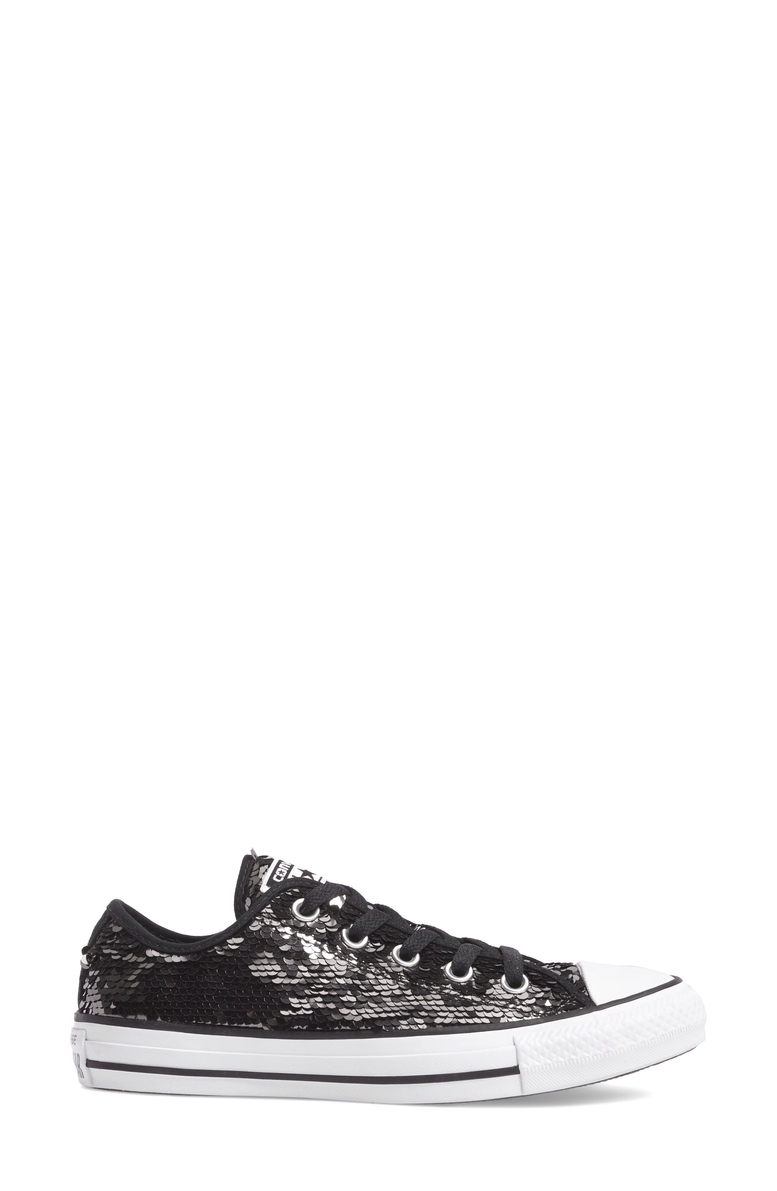 Chuck Taylor<sup>®</sup> All Star<sup>®</sup> Sequin Low Top Sneaker,                             Alternate thumbnail 5, color,