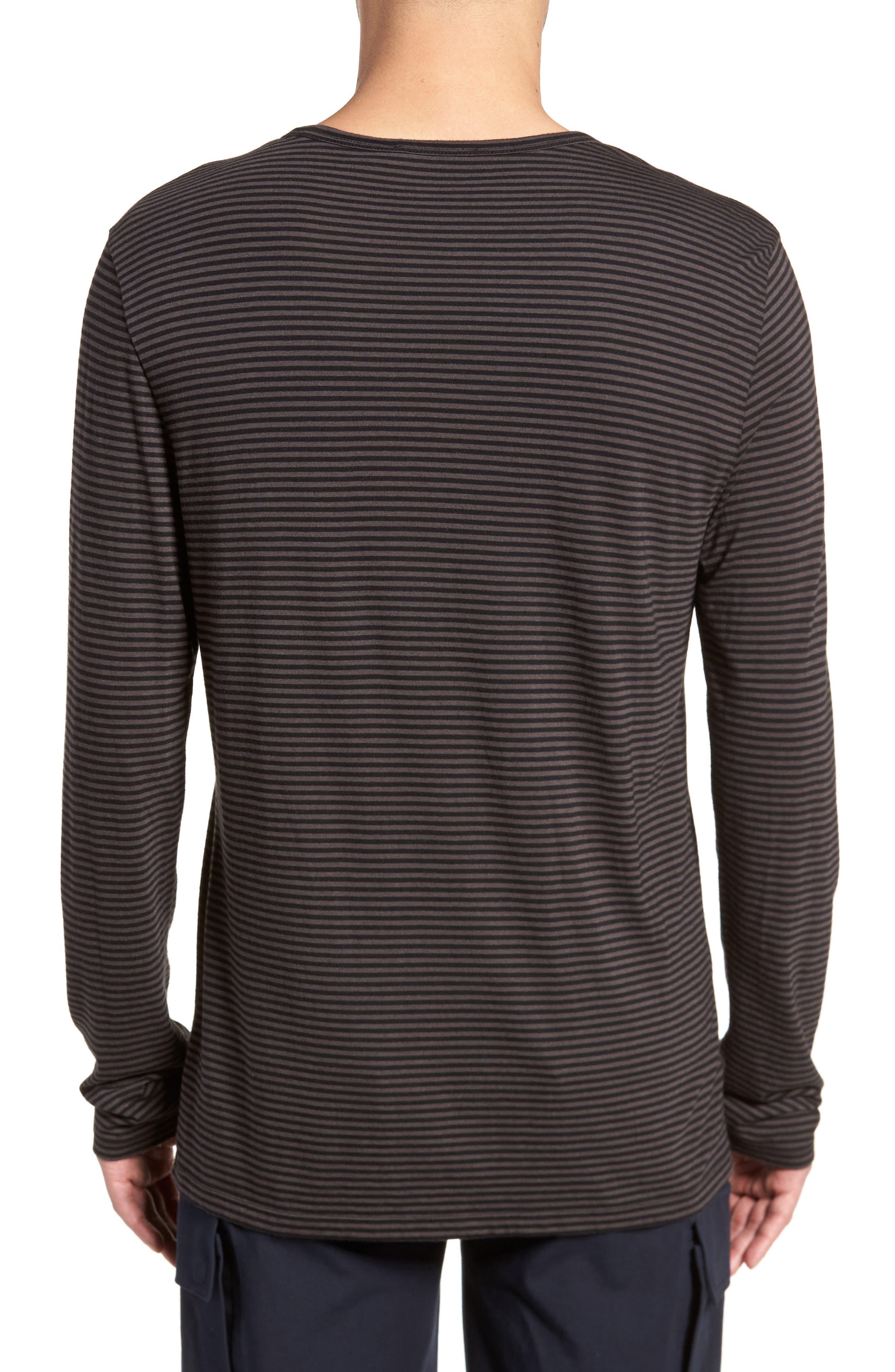 Feeder Stripe Long Sleeve Shirt,                             Alternate thumbnail 3, color,