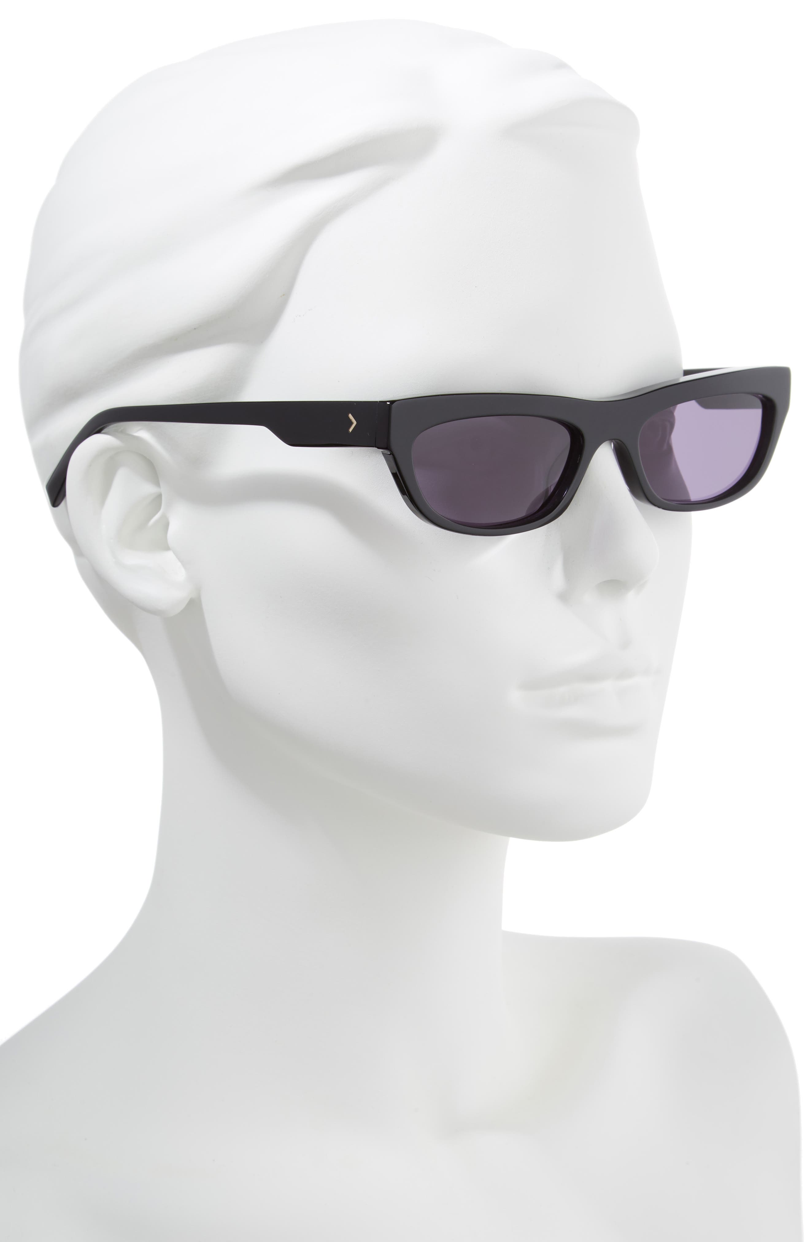 Courtney 55mm Cat Eye Sunglasses,                             Alternate thumbnail 2, color,                             001