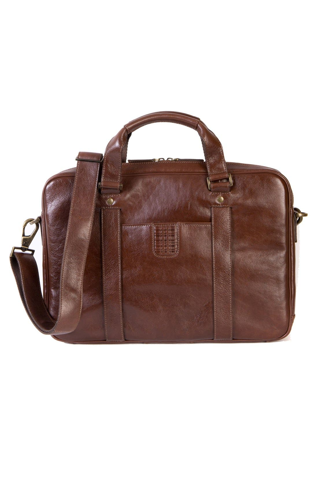 Becker Leather Briefcase,                             Alternate thumbnail 4, color,                             215