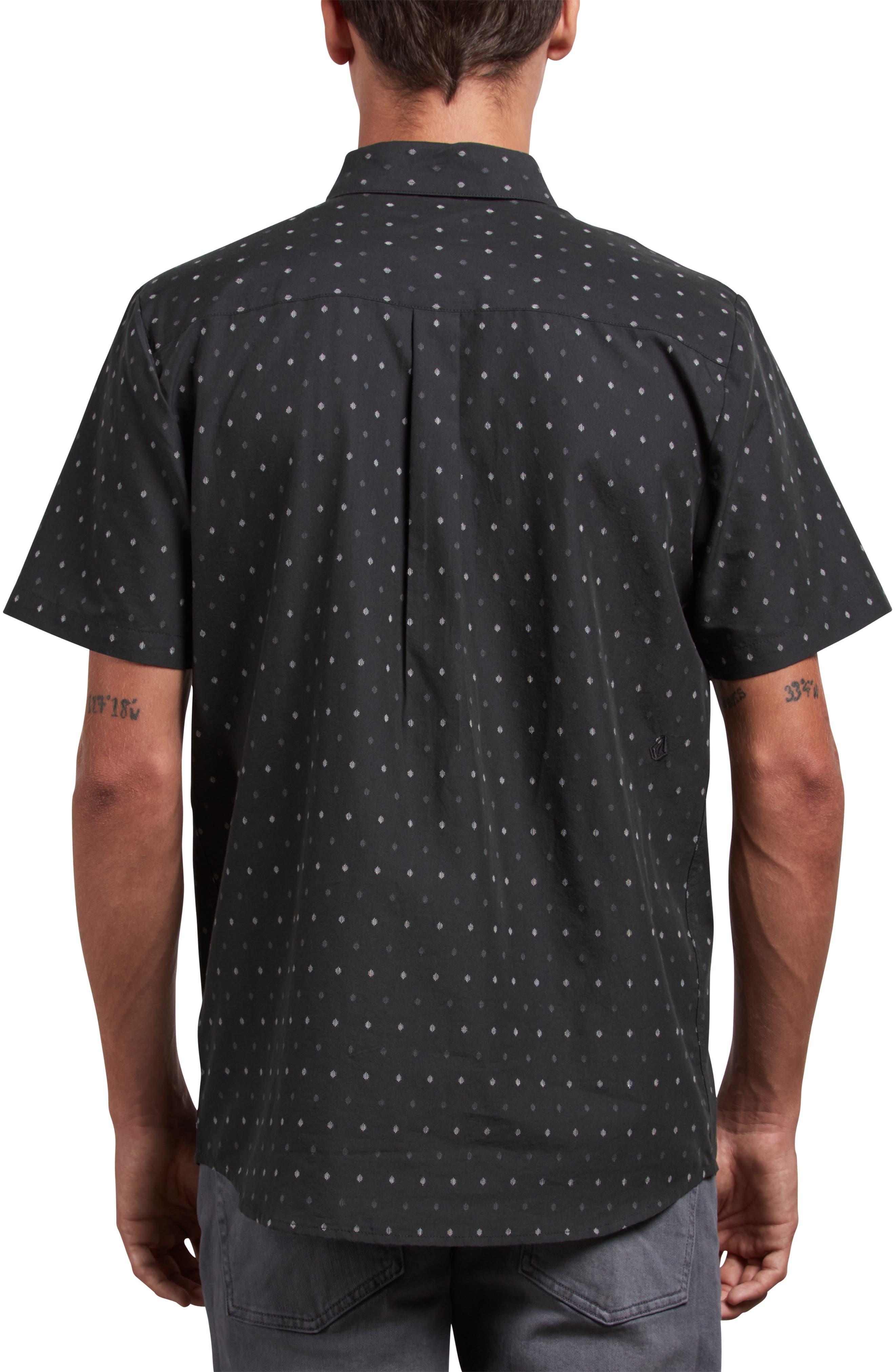 Frequency Dot Short Sleeve Woven Shirt,                             Alternate thumbnail 2, color,                             020