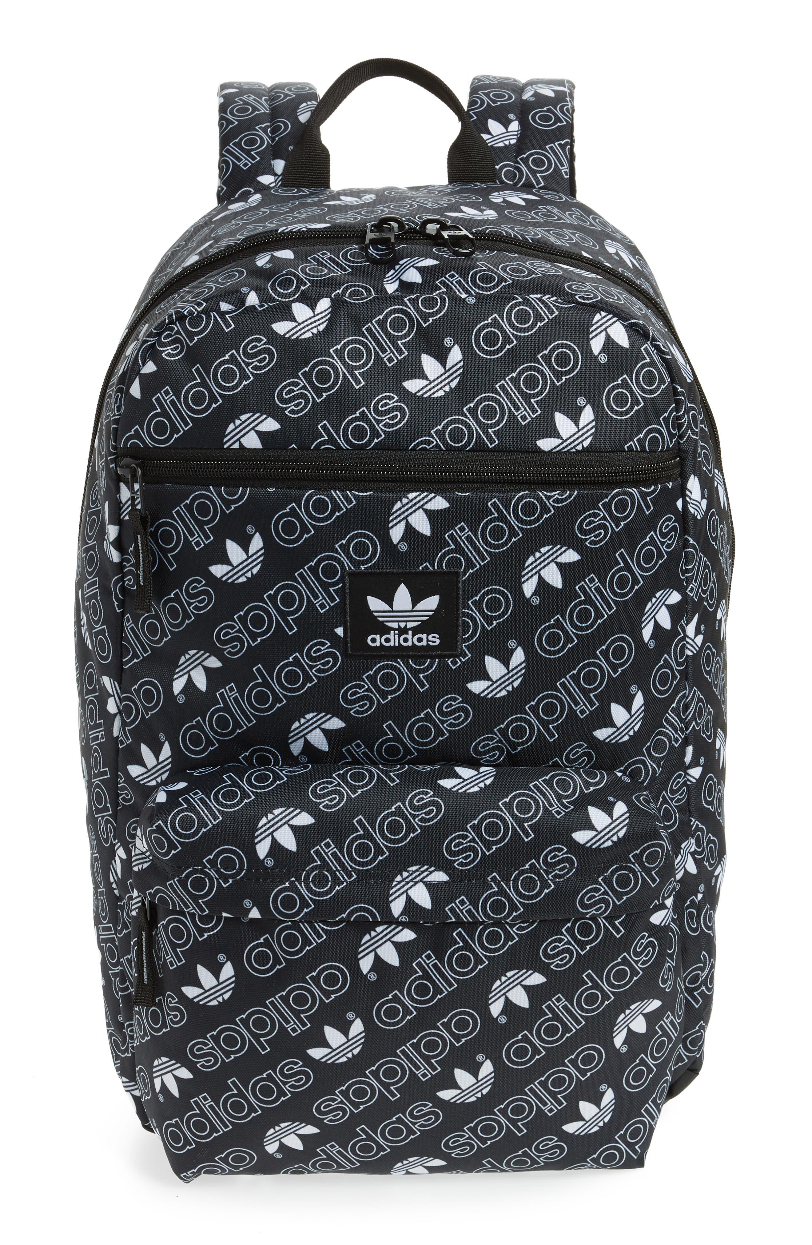 Monogram National Backpack,                         Main,                         color, BLACK MONOGRAM