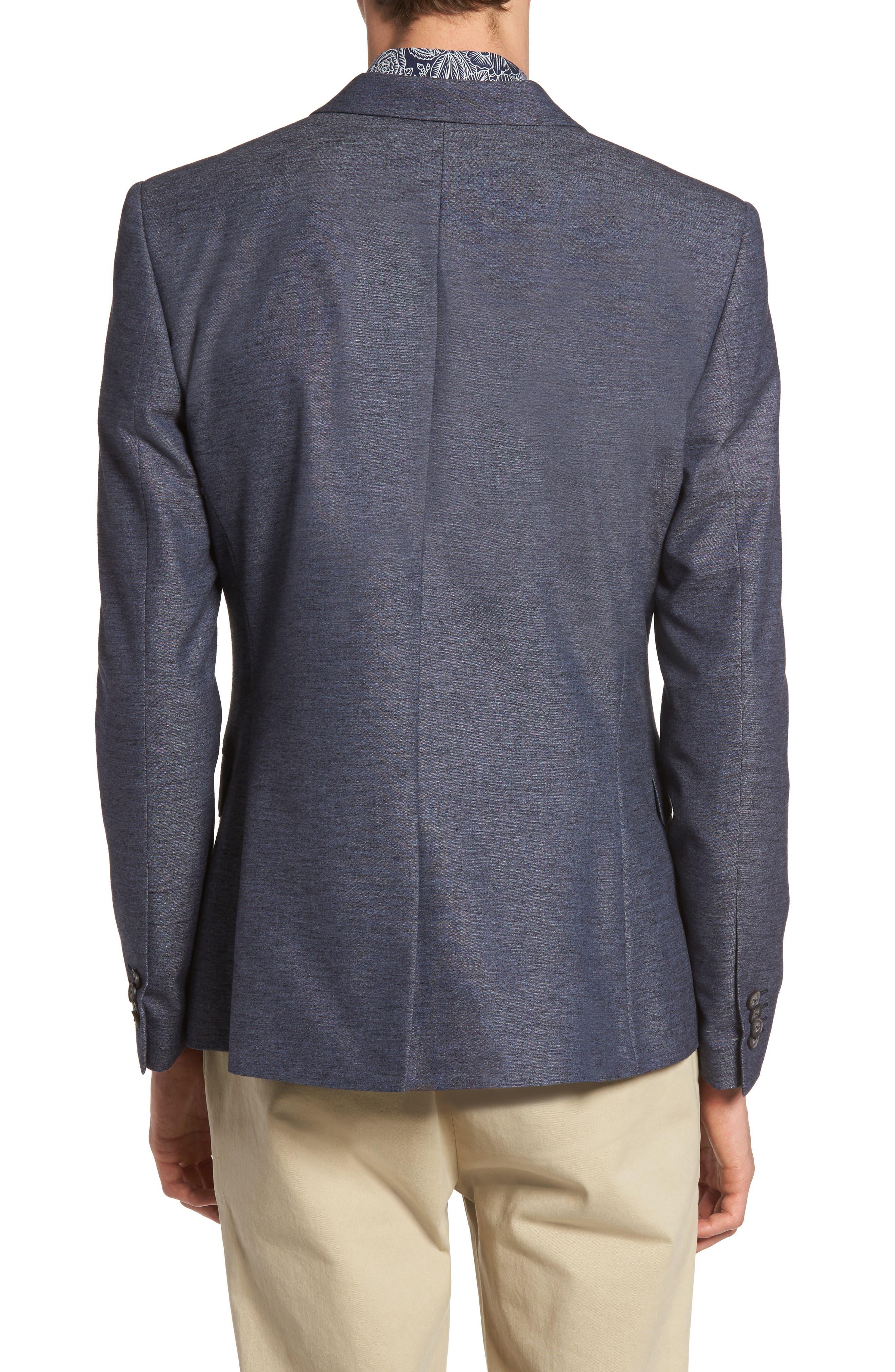 Slim Fit Jersey Blazer,                             Alternate thumbnail 2, color,                             400