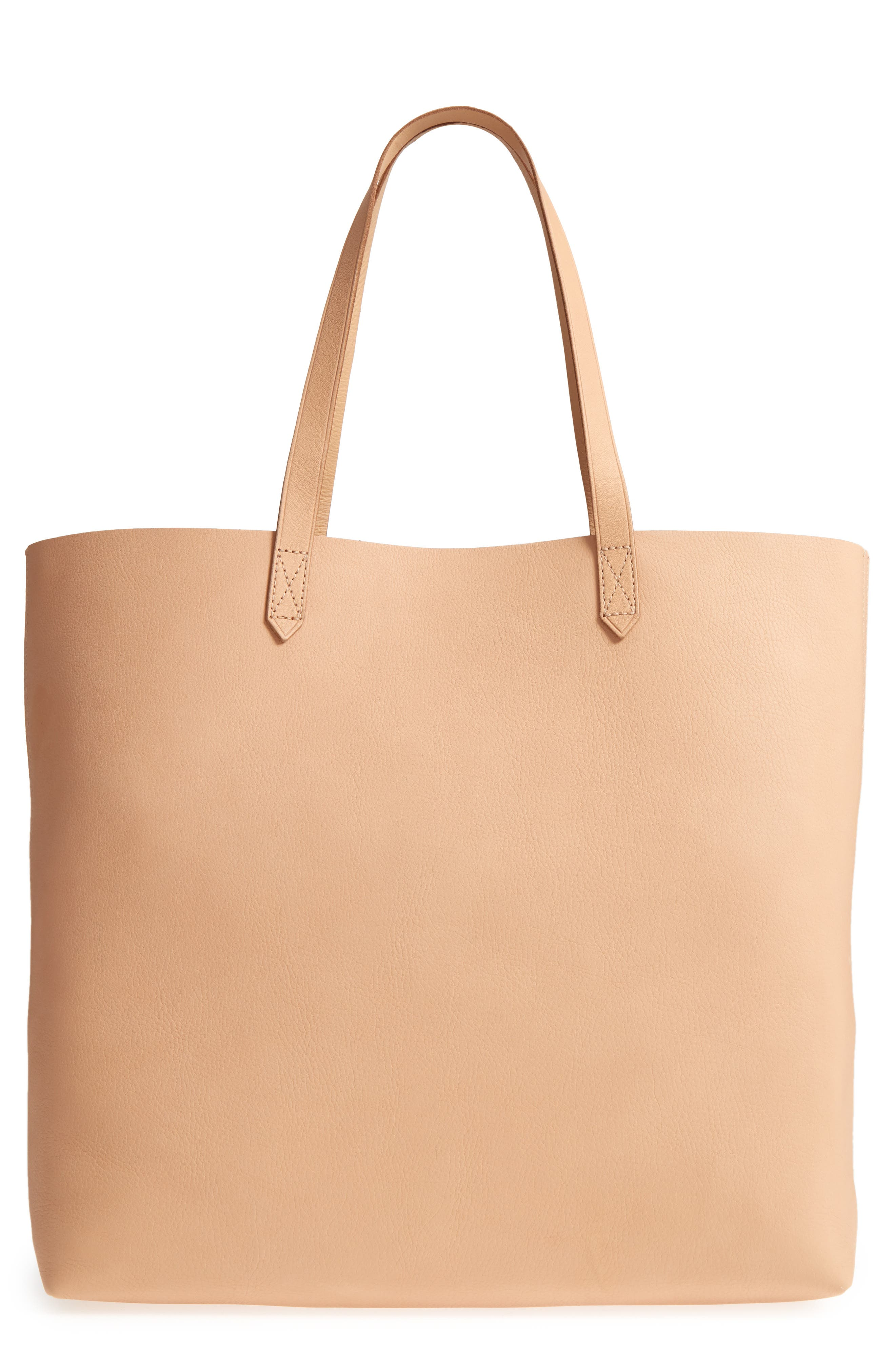 'Transport' Leather Tote,                         Main,                         color, LINEN