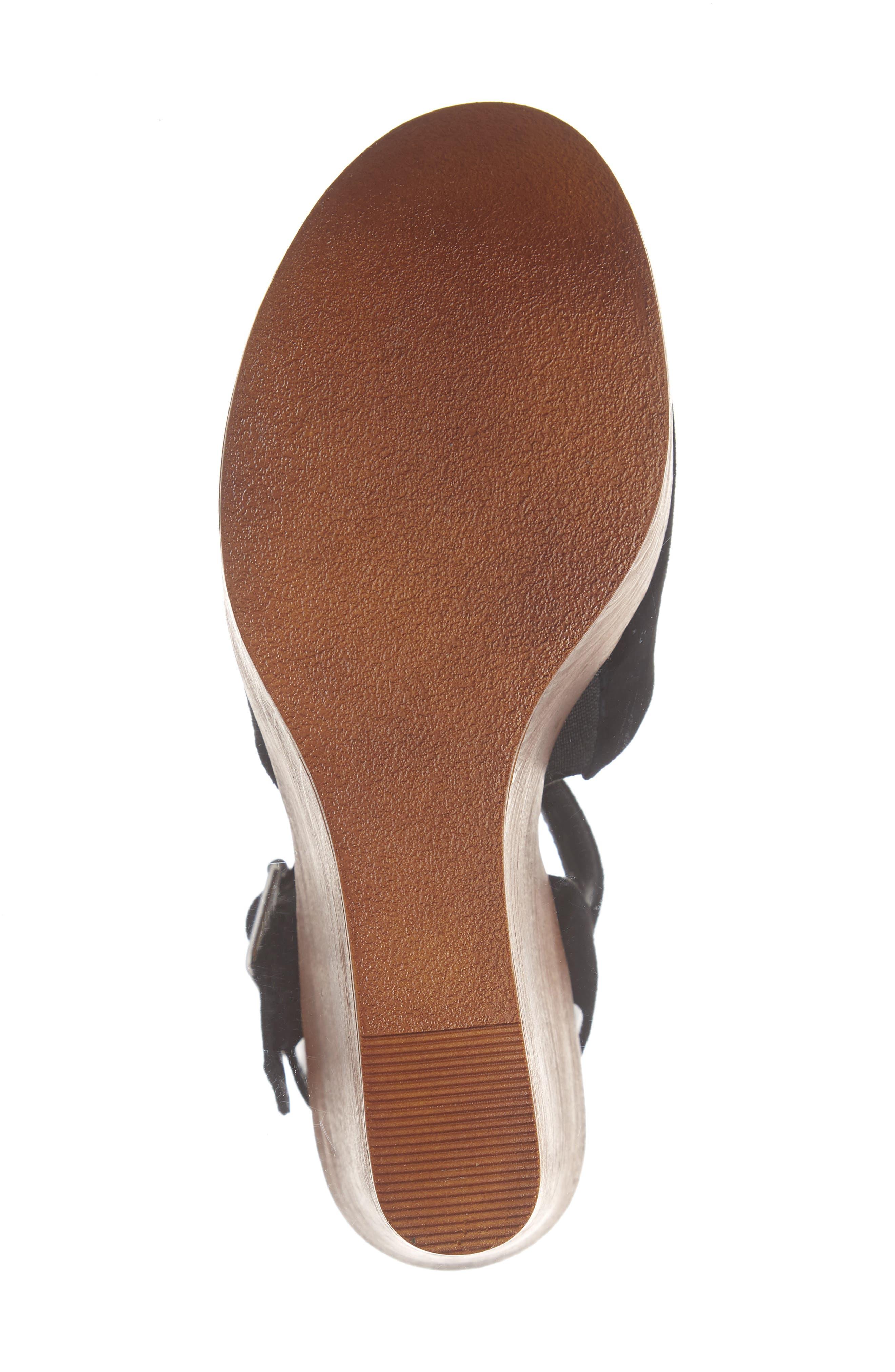 Bellini Wedge Sandal,                             Alternate thumbnail 6, color,                             BLACK SUEDE