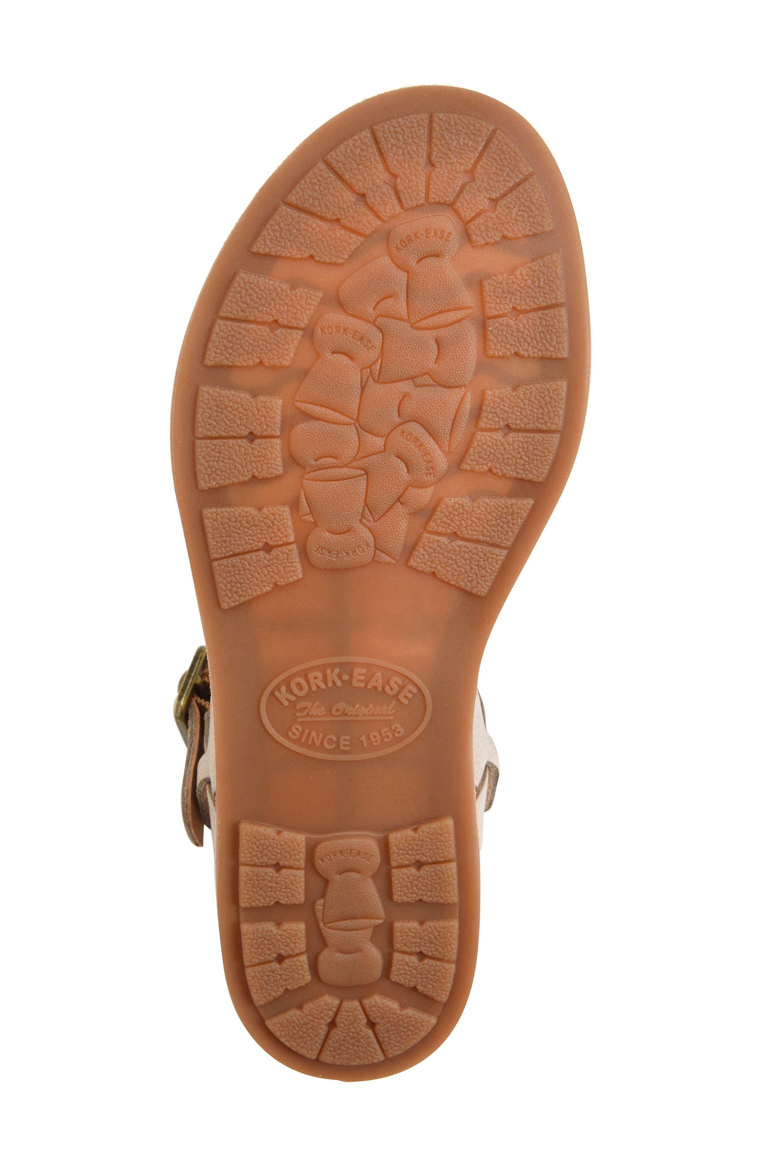 KORK-EASE<SUP>®</SUP>,                             Yucca Sandal,                             Alternate thumbnail 6, color,                             GREY LEATHER
