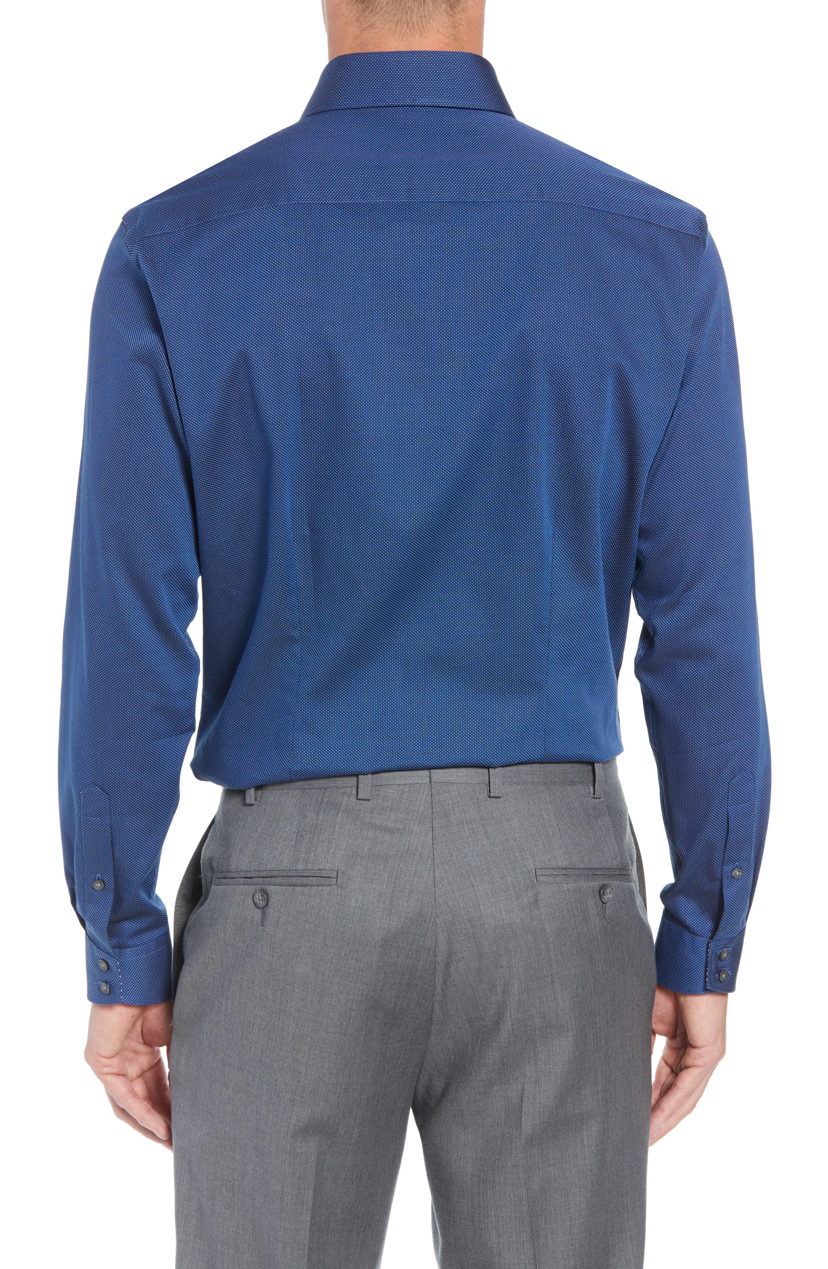 TED BAKER LONDON,                             Wikks Slim Fit Print Dress Shirt,                             Alternate thumbnail 3, color,                             410
