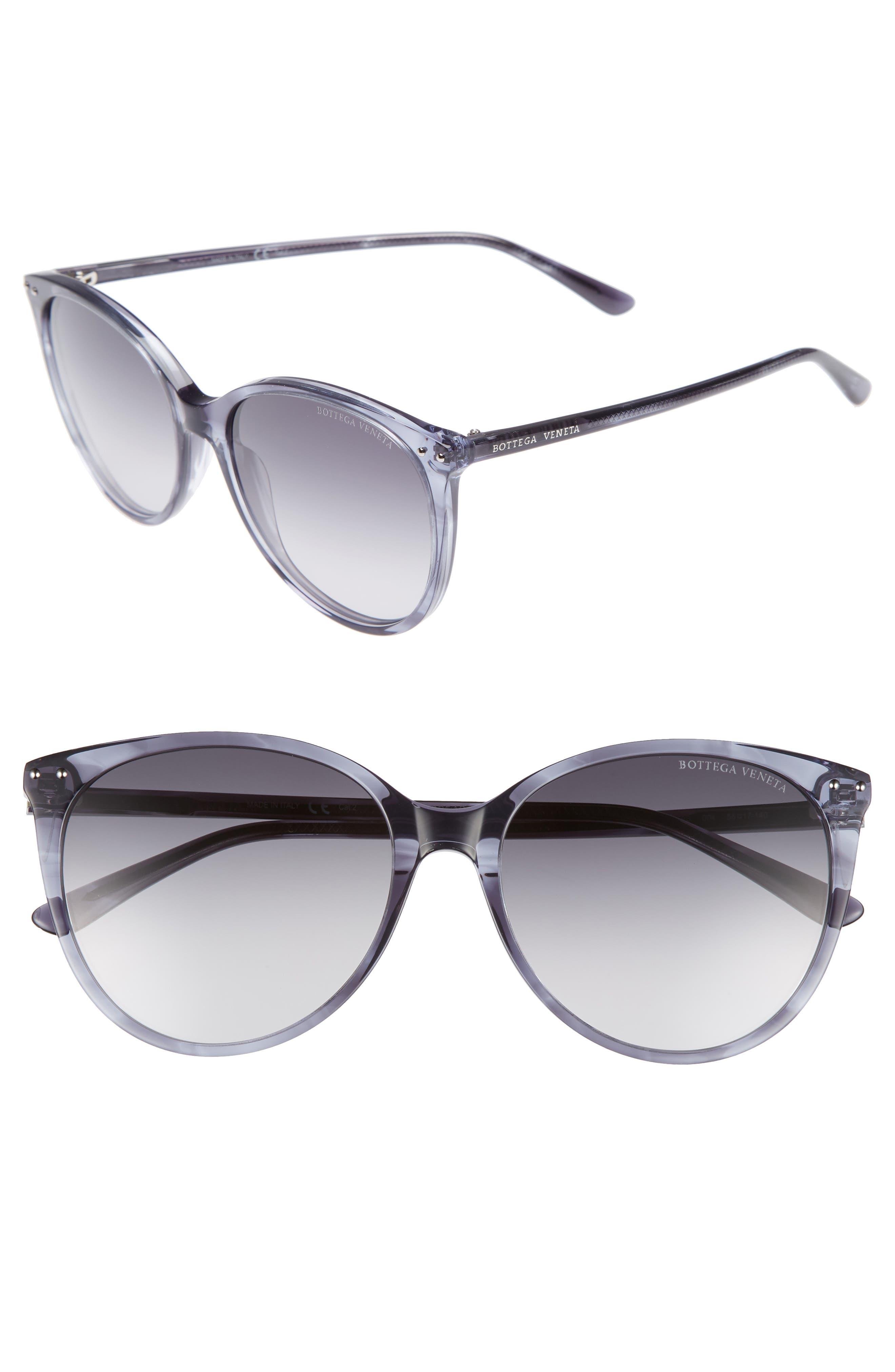 55mm Cat Eye Sunglasses,                         Main,                         color, GREY