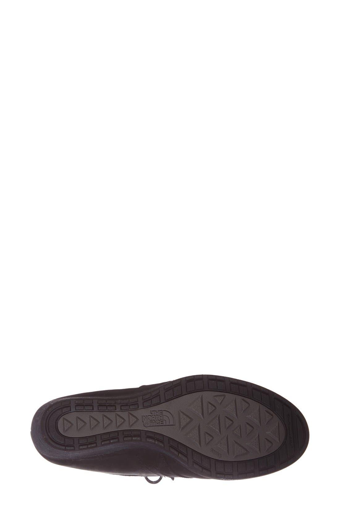 'Bridgeton Wedge Lace' Waterproof Boot,                             Alternate thumbnail 5, color,                             001