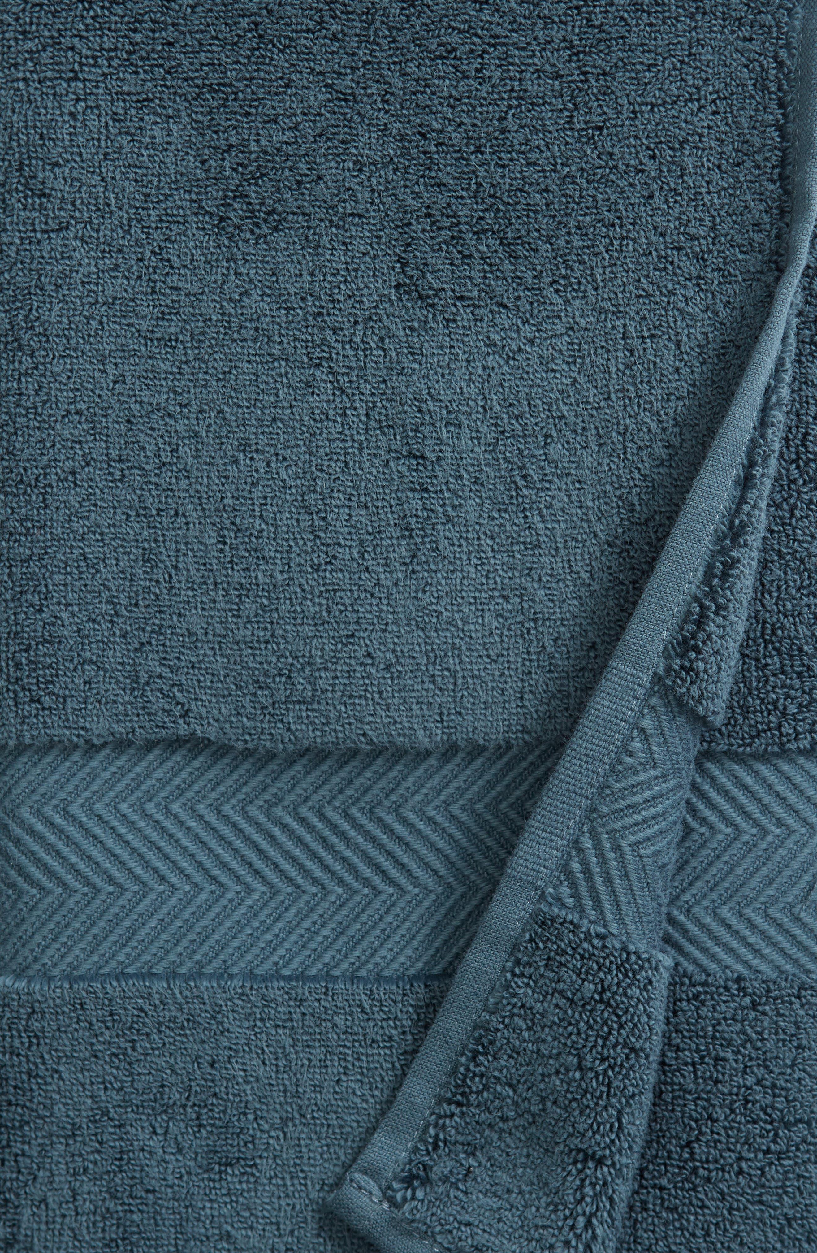 Hydrocotton Hand Towel,                             Alternate thumbnail 3, color,                             TEAL GAZER