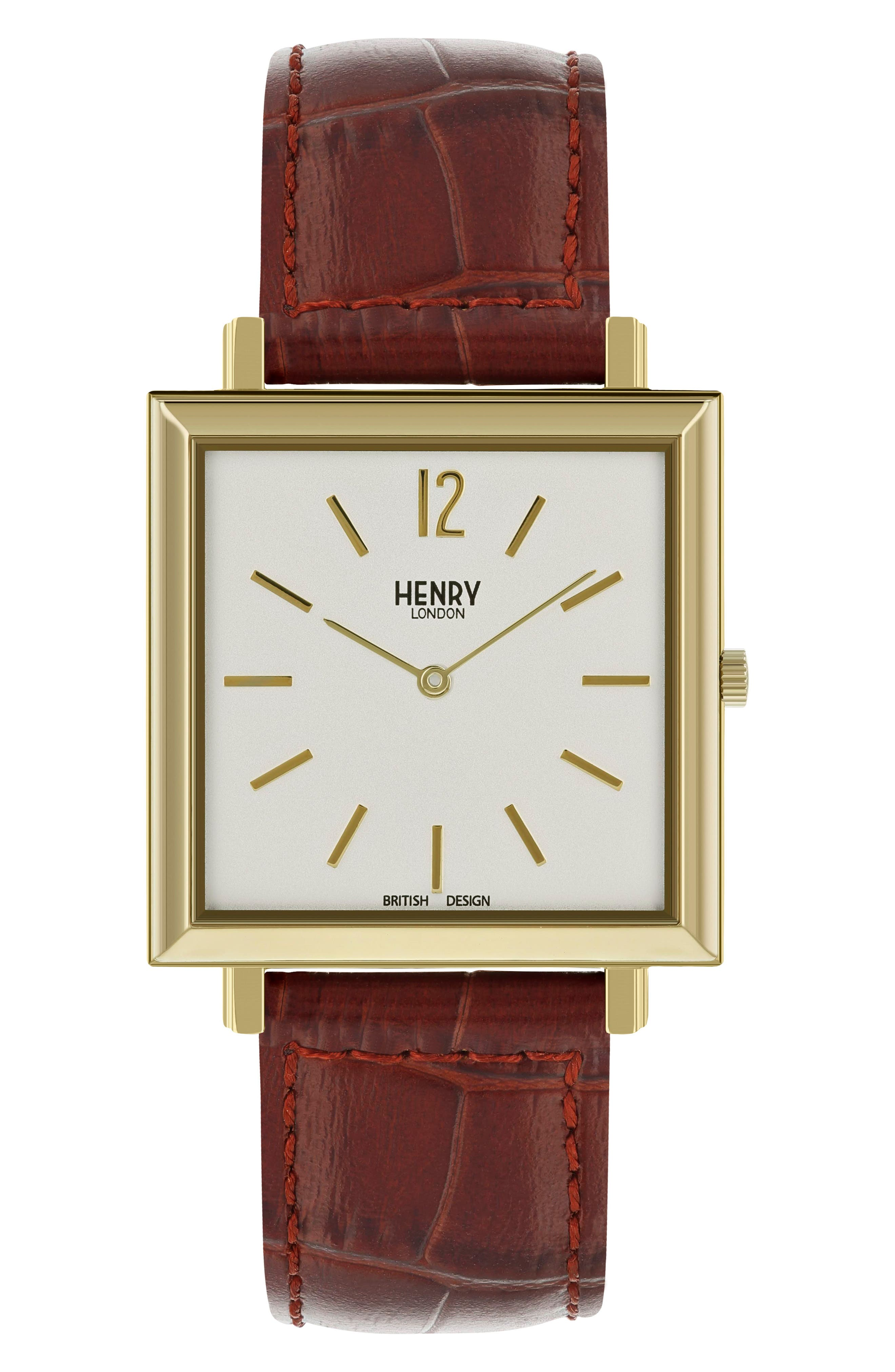 Heritage Leather Strap Watch, 34mm,                             Main thumbnail 3, color,