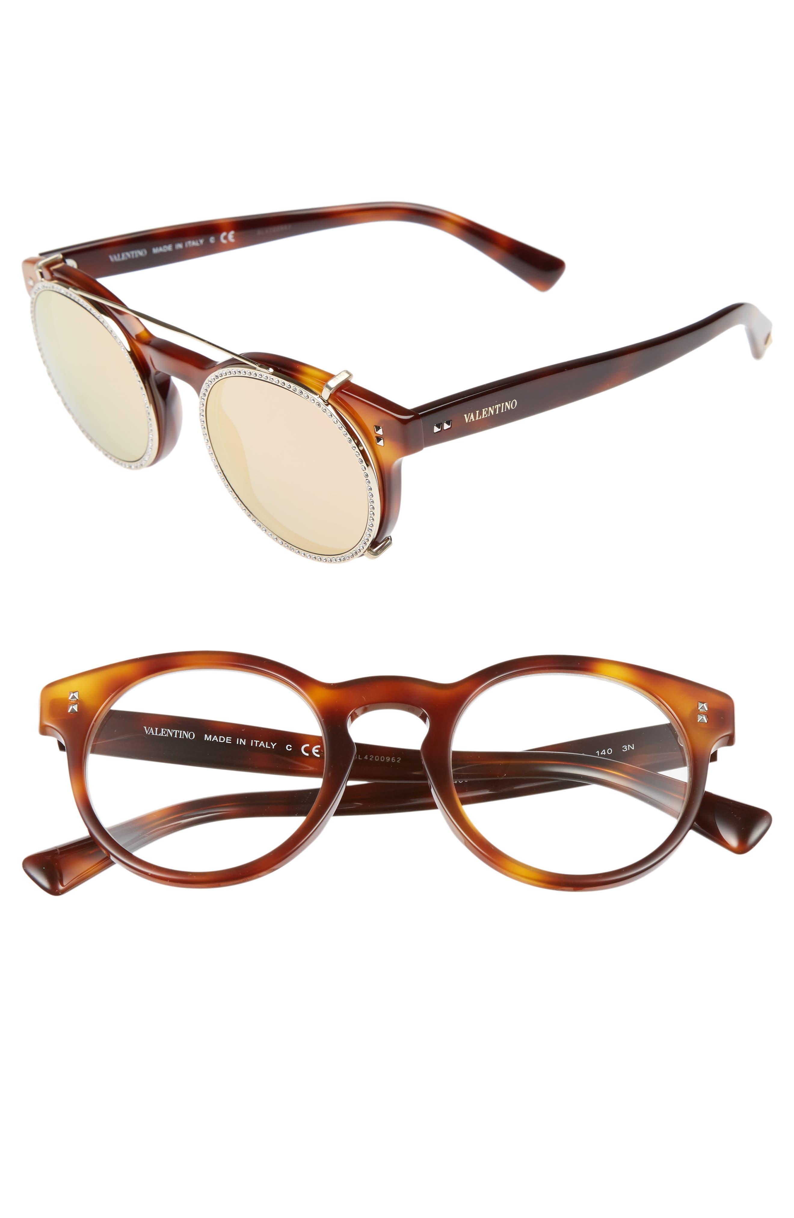 47mm Round Sunglasses,                             Main thumbnail 3, color,