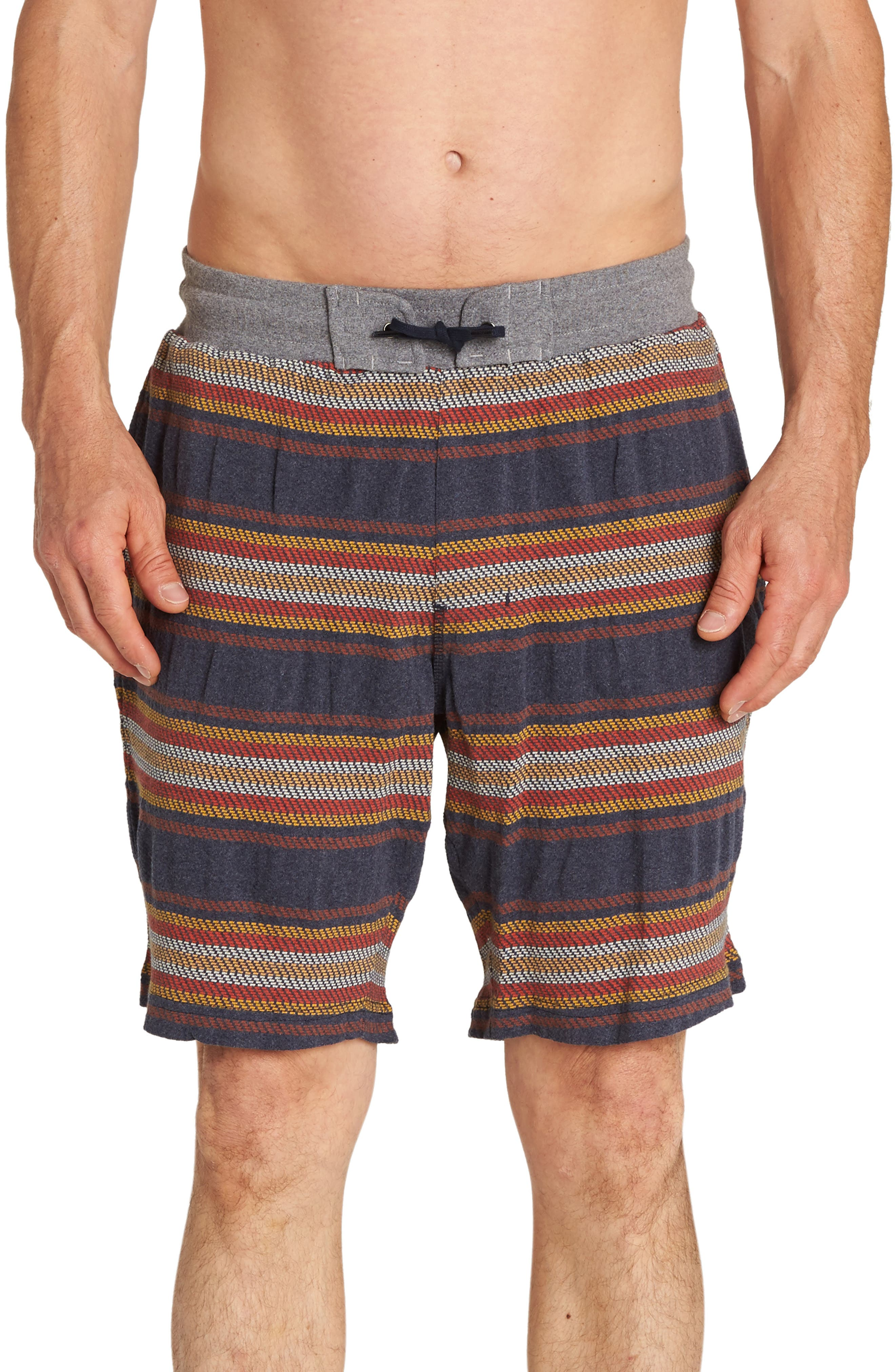 Flecker Baja Shorts,                         Main,                         color, NAVY HEATHER