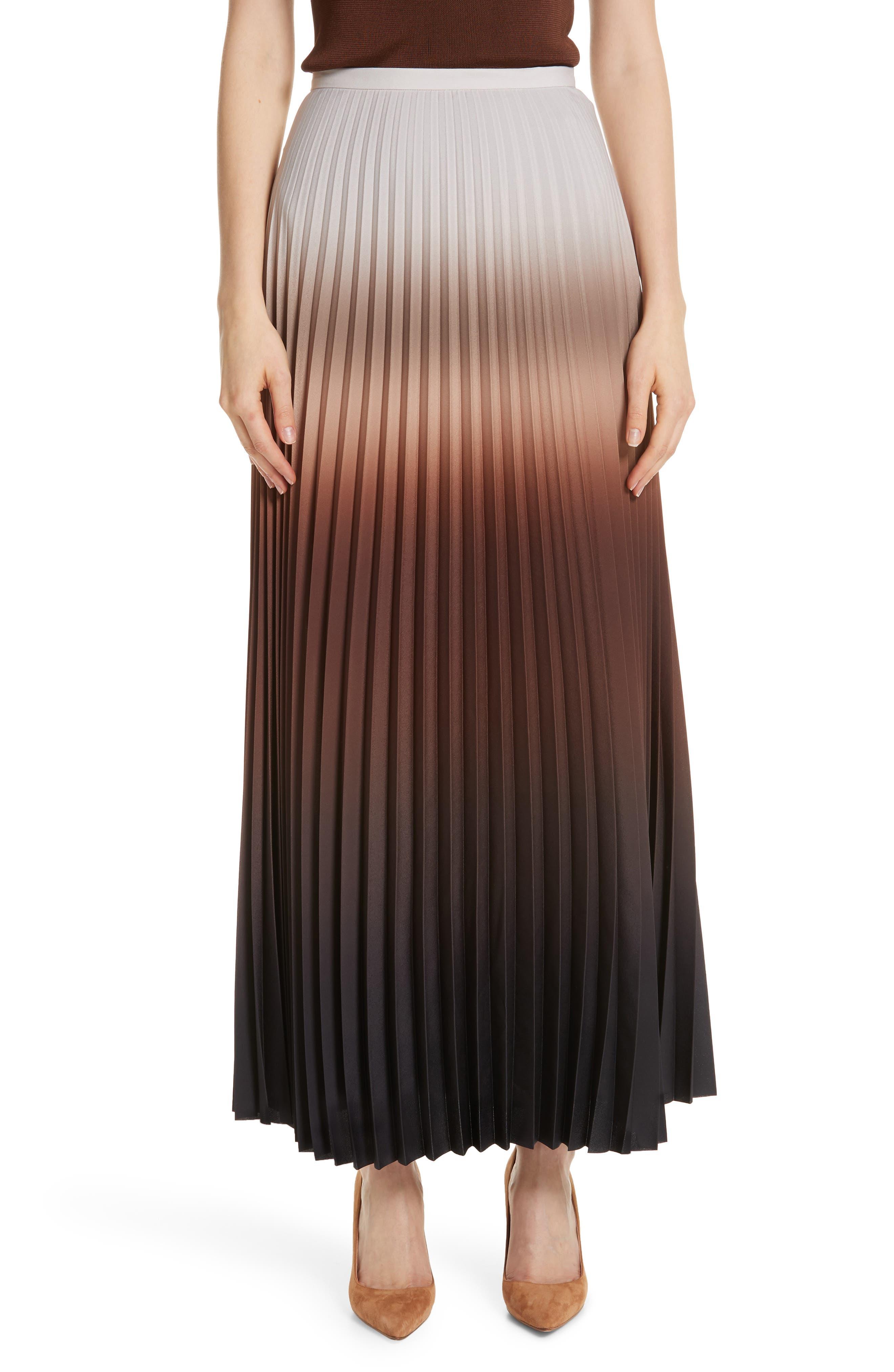 MAX MARA Abatina Maxi Skirt, Main, color, TOBACCO