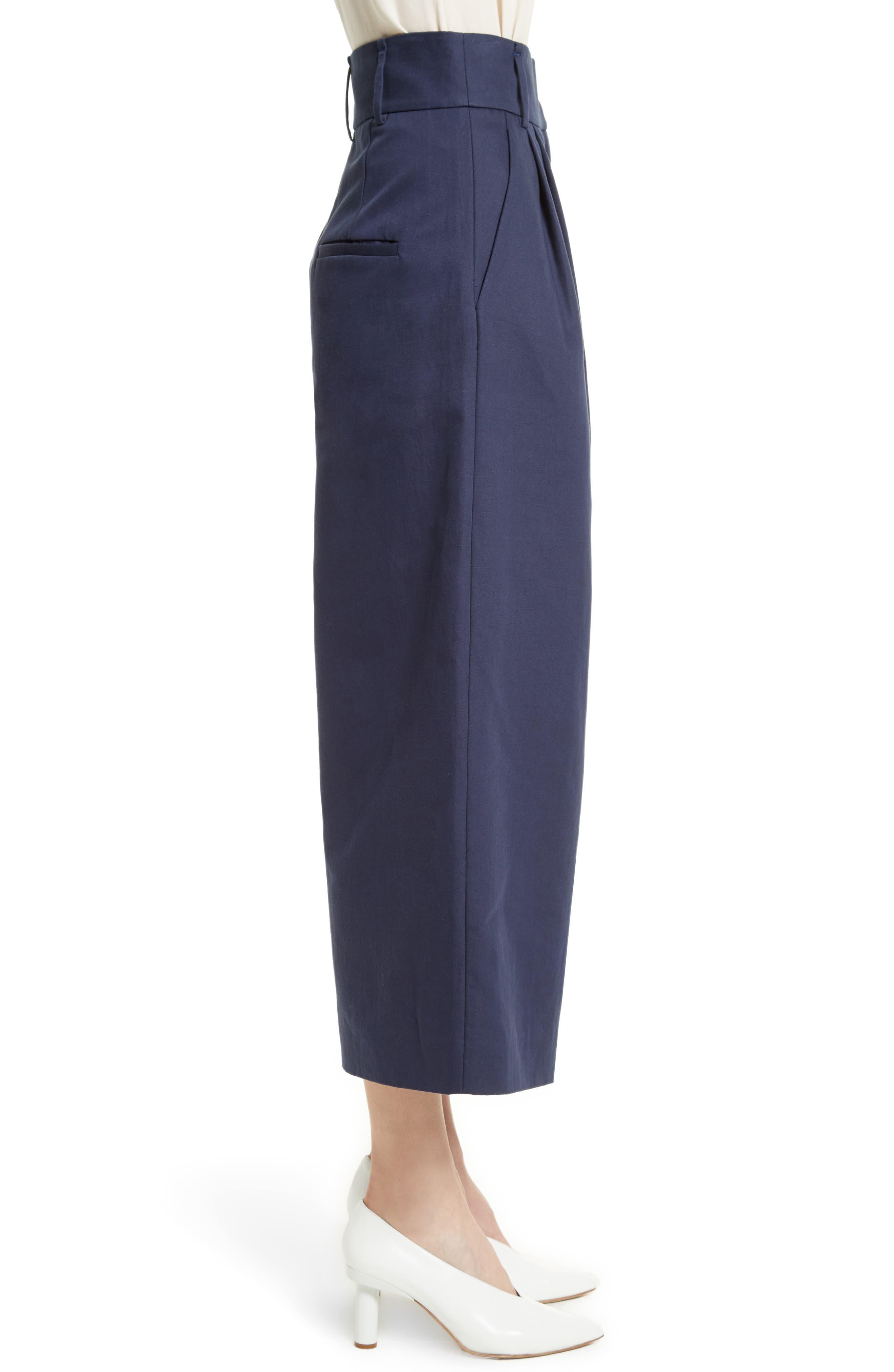 Chassis Plain Weave Crop Pants,                             Alternate thumbnail 3, color,                             402