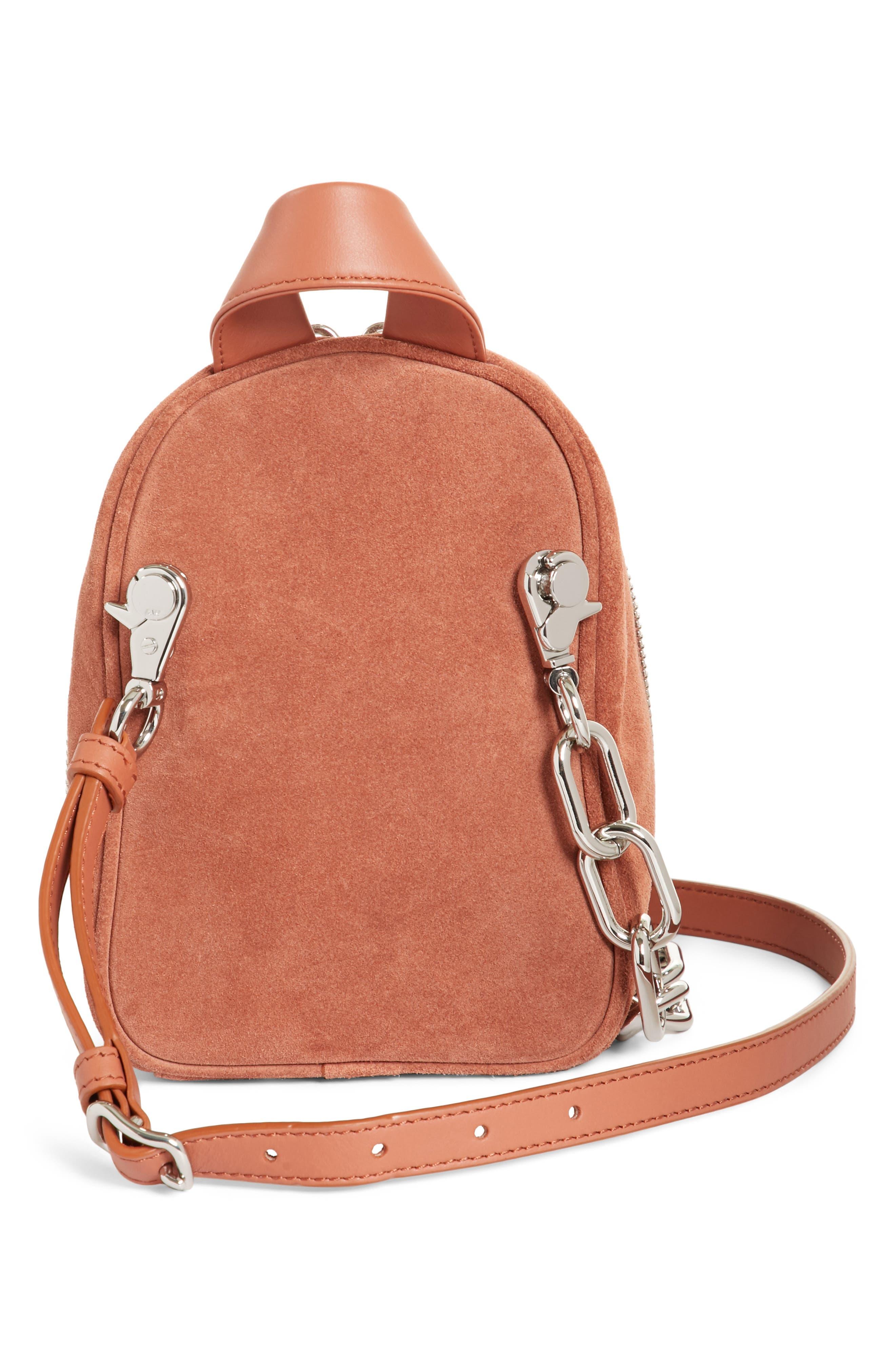 Mini Attica Suede Backpack-Shaped Crossbody Bag,                             Alternate thumbnail 3, color,                             200