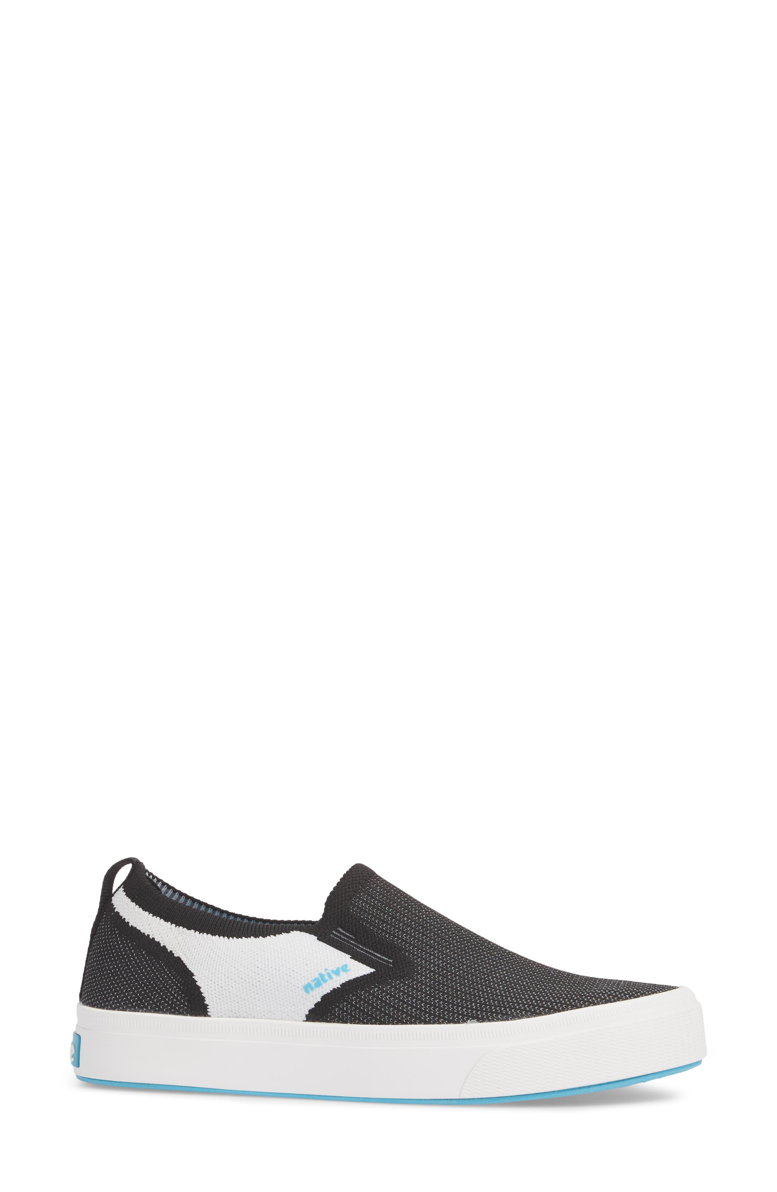 Miles Liteknit Slip-On Sneaker,                             Alternate thumbnail 3, color,                             JIFFY BLACK/ SHELL WHITE