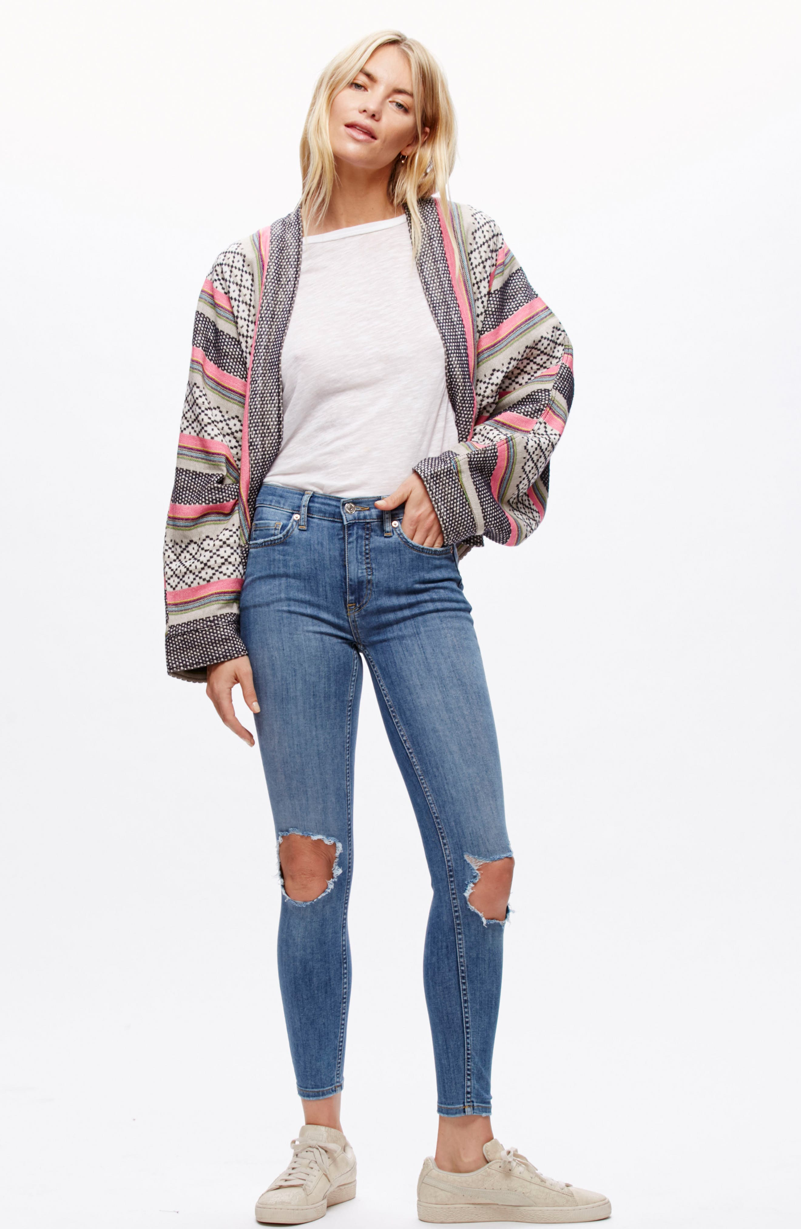 We the People by Free People High Rise Busted Knee Skinny Jeans,                             Alternate thumbnail 24, color,