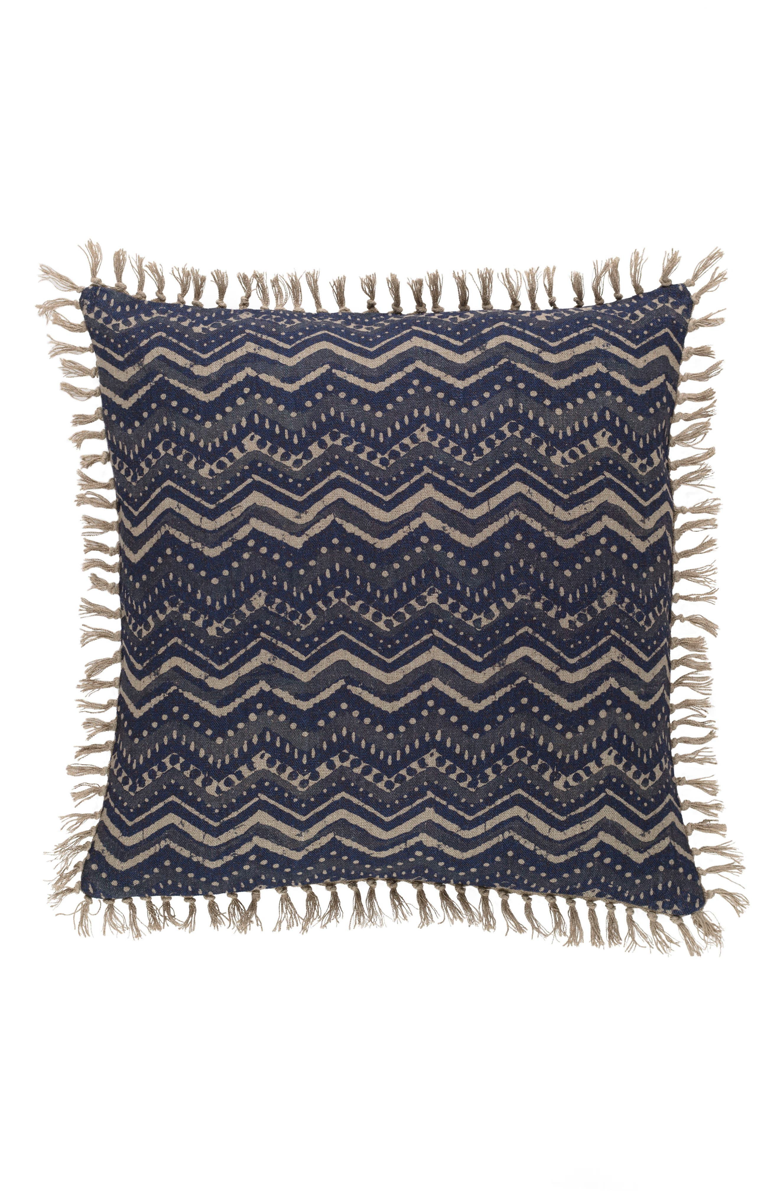 Marianna Linen Accent Pillow,                         Main,                         color, BLUE
