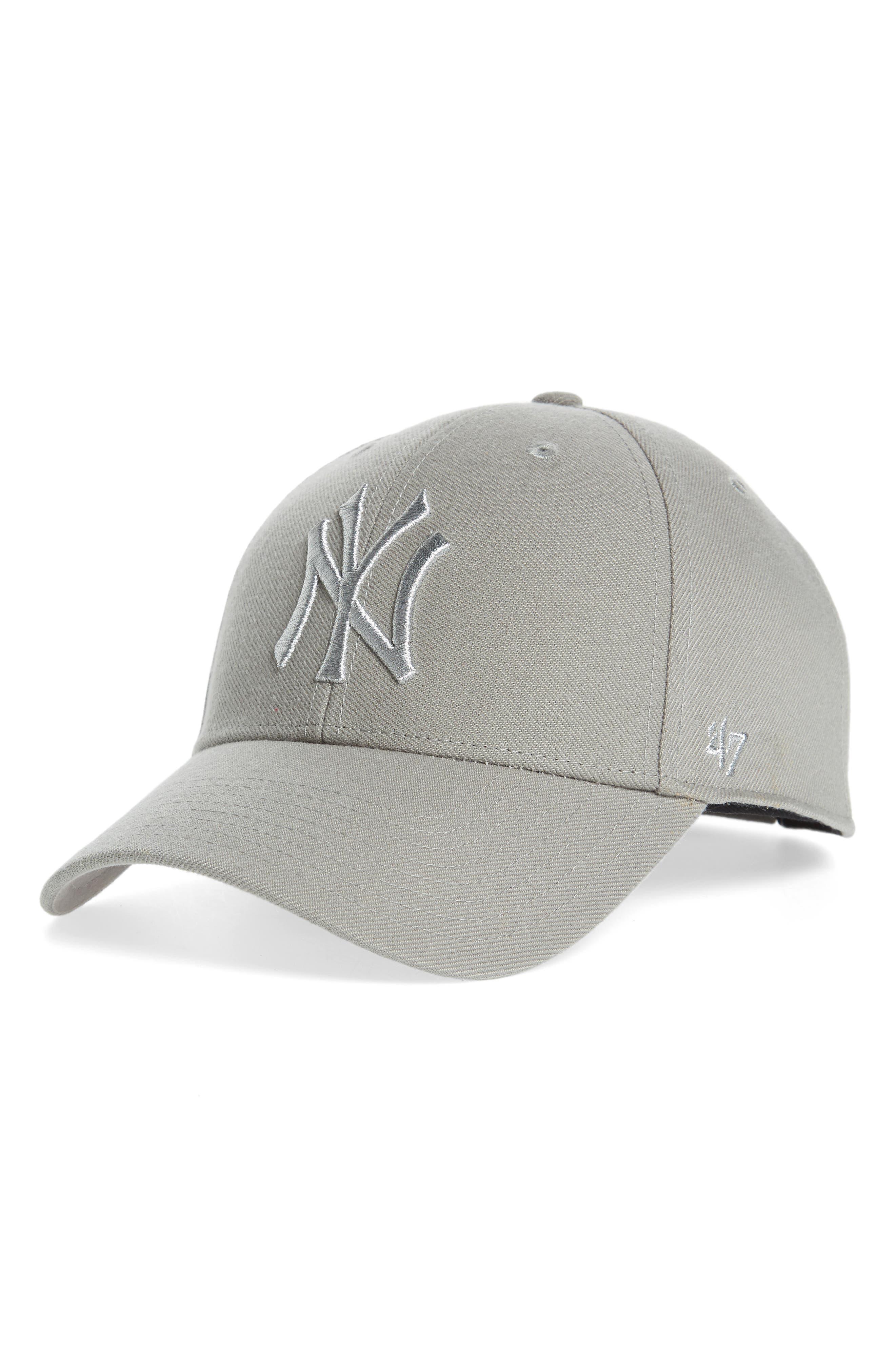 Clean Up NY Yankees Metallic MVP Baseball Cap,                         Main,                         color, 020