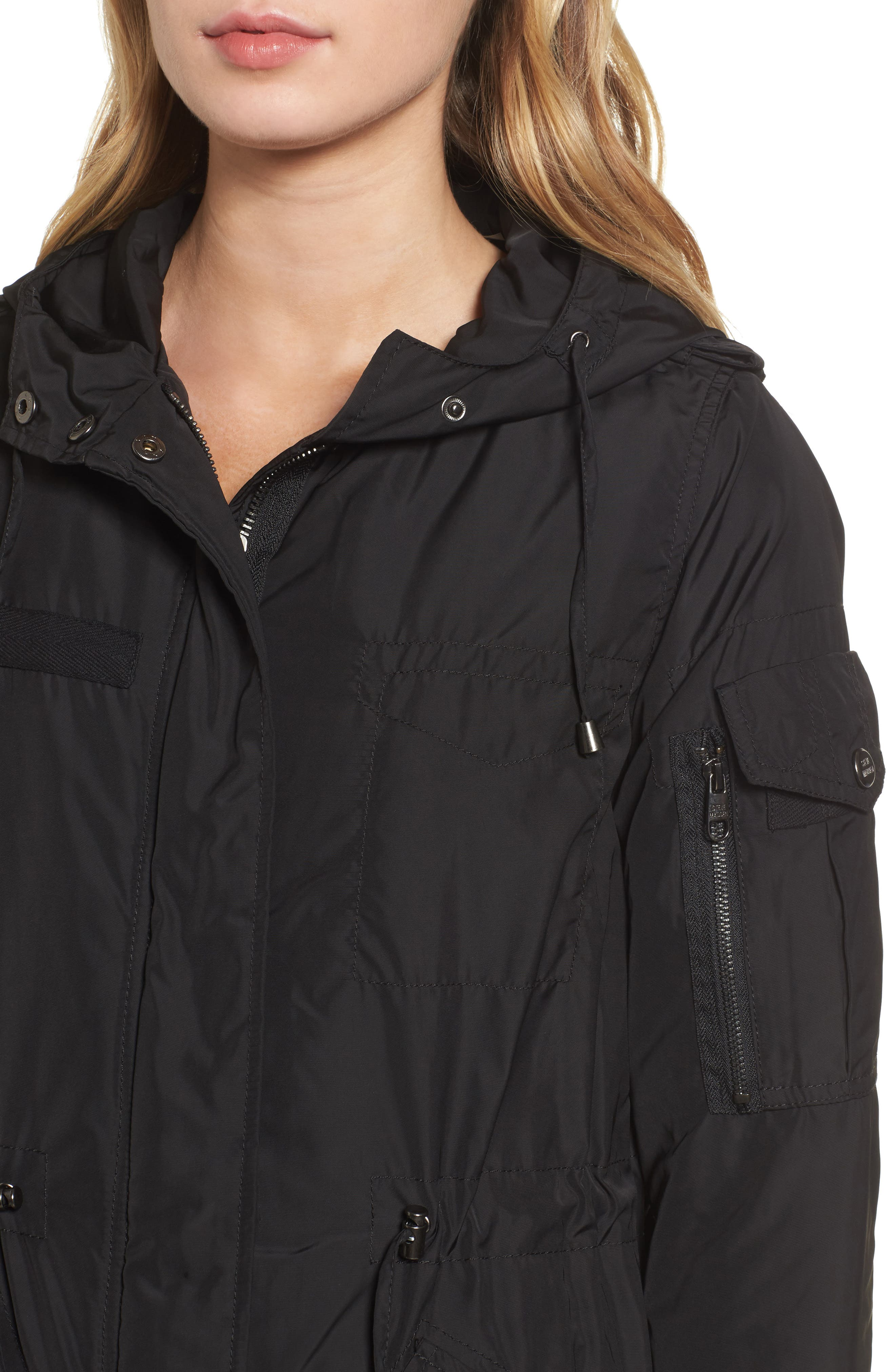 Hooded Water Repellent Anorak,                             Alternate thumbnail 4, color,                             001