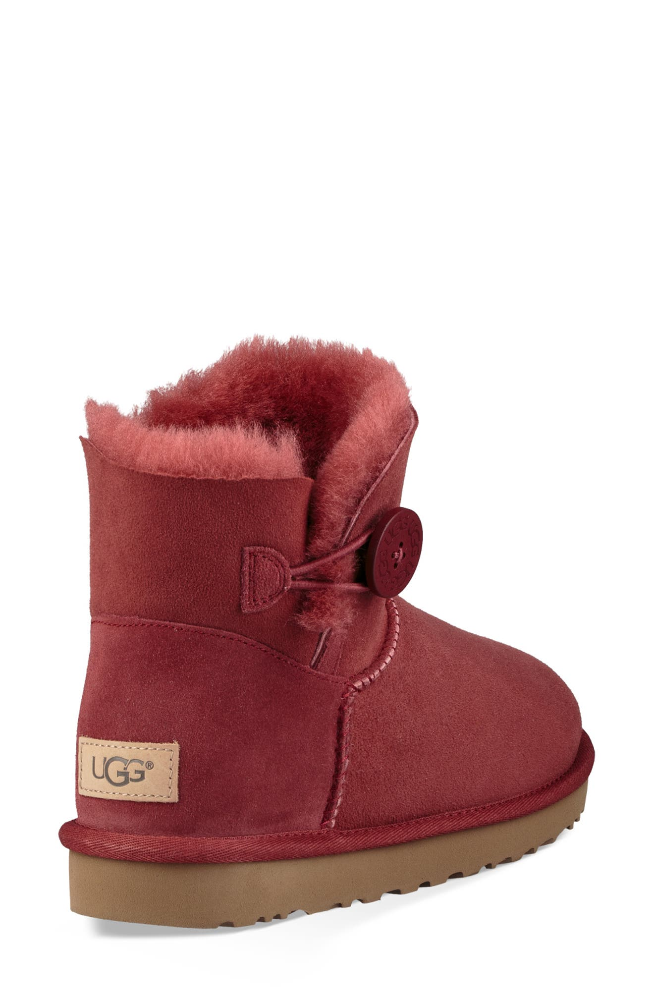 'Mini Bailey Button II' Boot,                             Alternate thumbnail 2, color,                             REDWOOD SUEDE